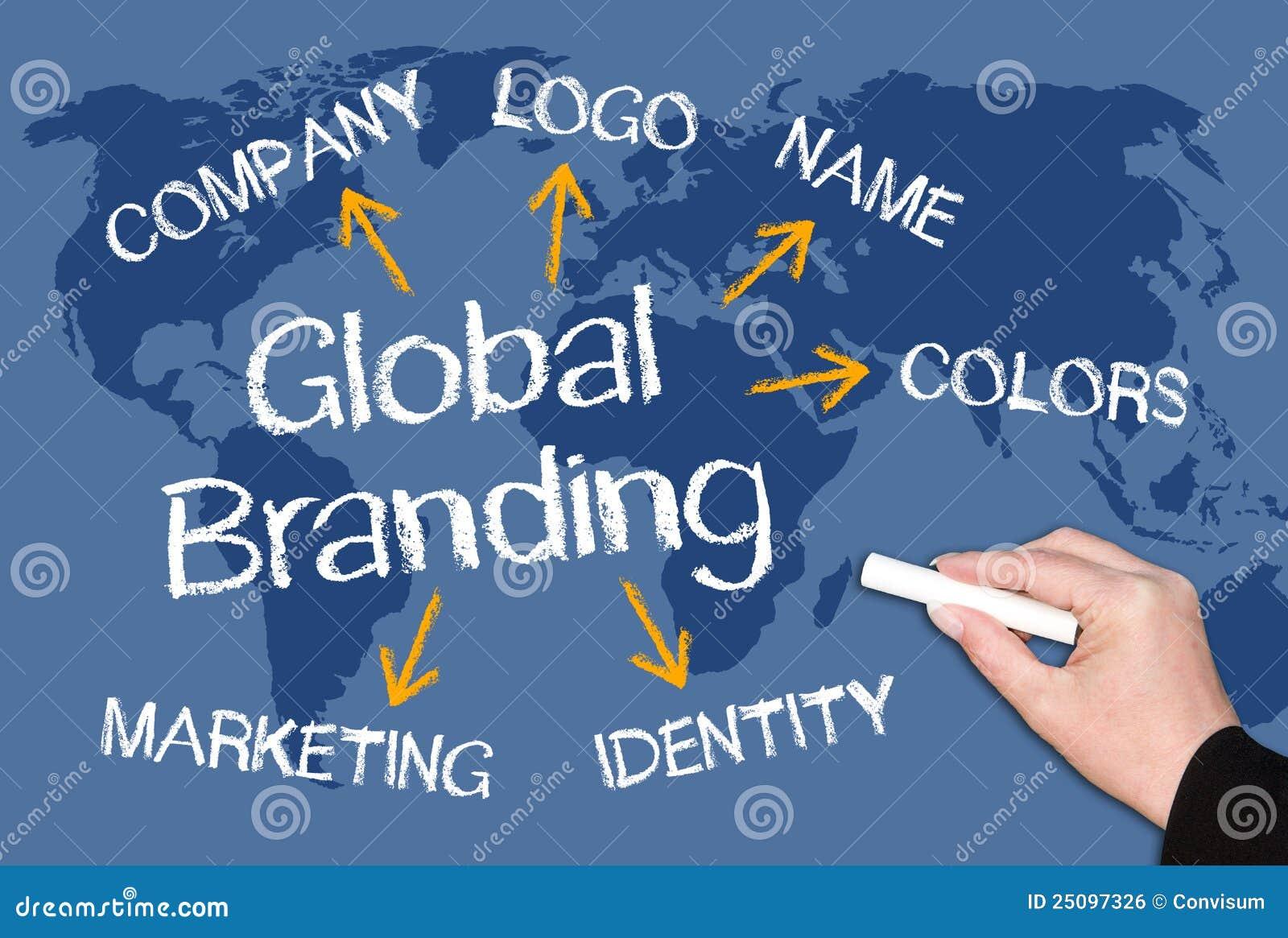 Global Branding on Chalkboard