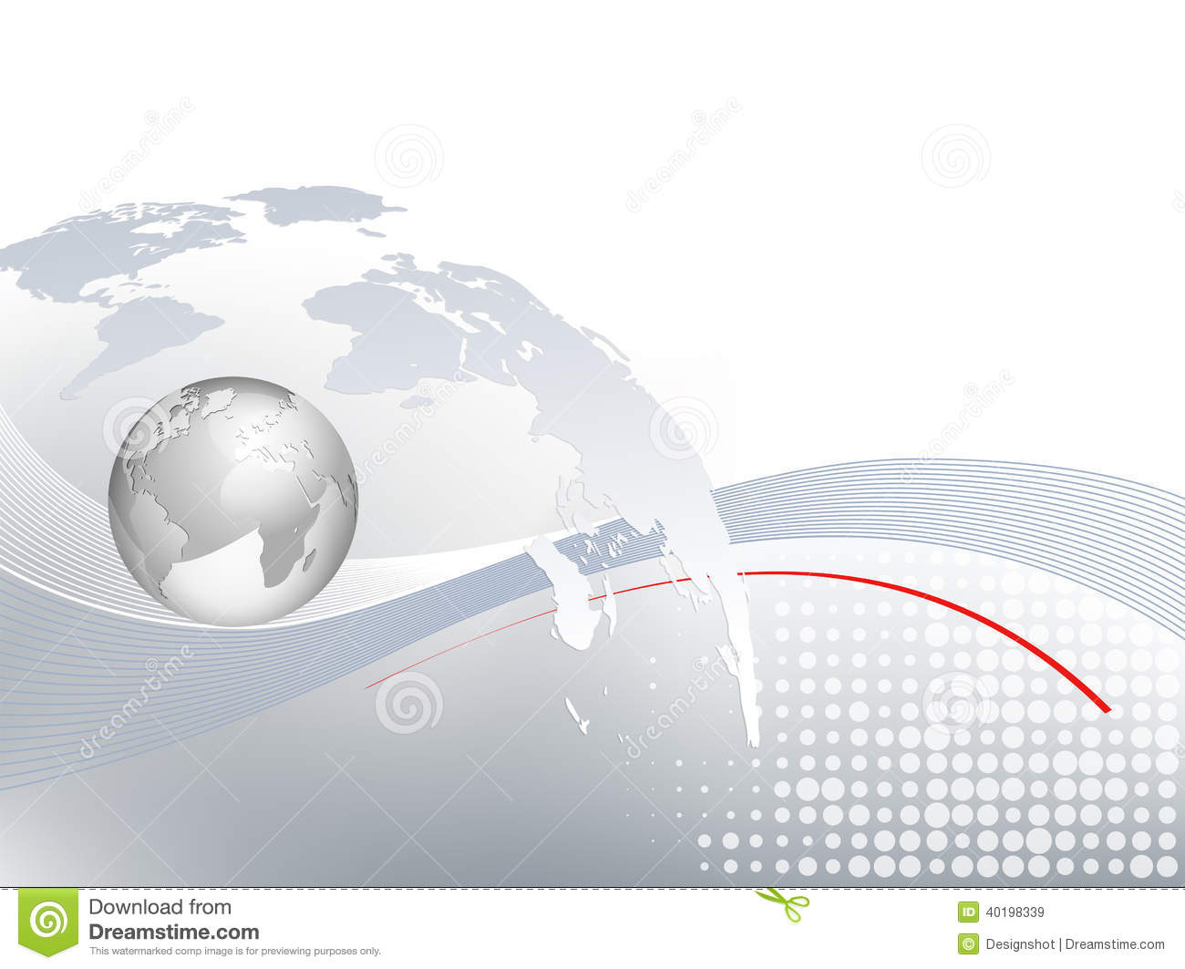 Global business background with world map stock vector for Global design company