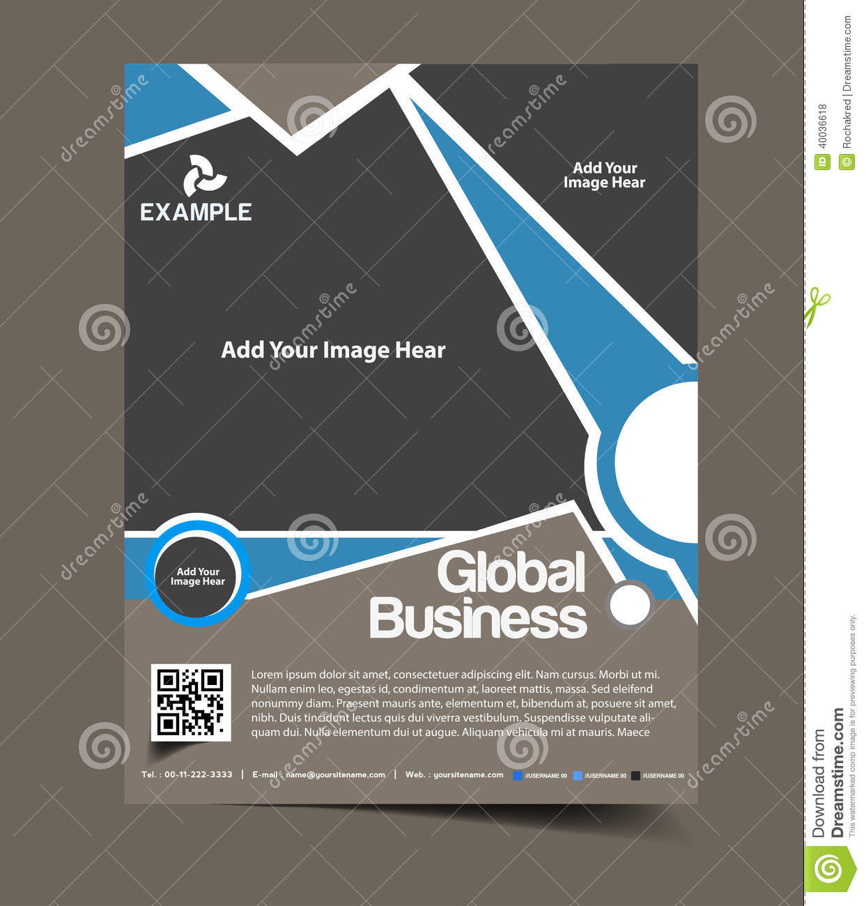 Global business flyer design stock vector image 40036618 for Global design company