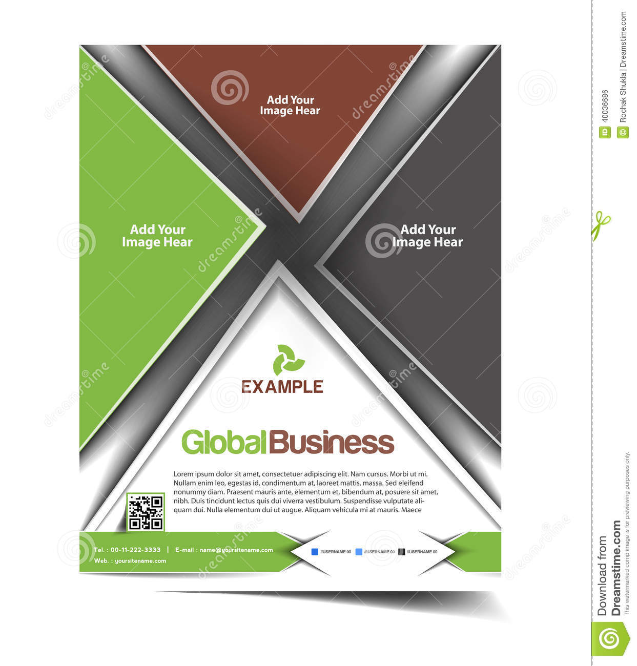Global business flyer design stock vector image 40036686 for Global design company