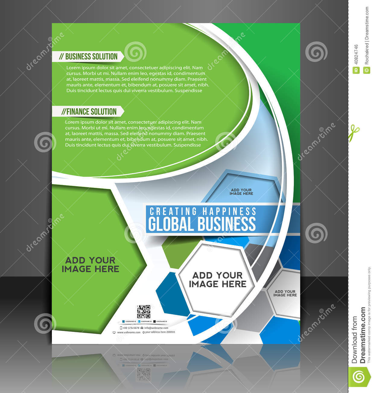 Global business flyer stock illustration image 40824746 for Global design firm