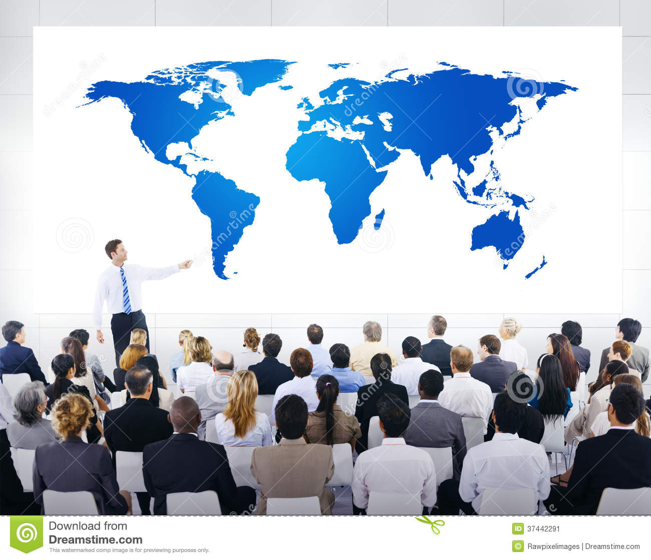 Global Business Presentation with World Map