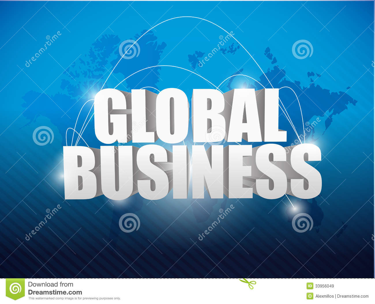Global business world map concept illustration stock for Global design company
