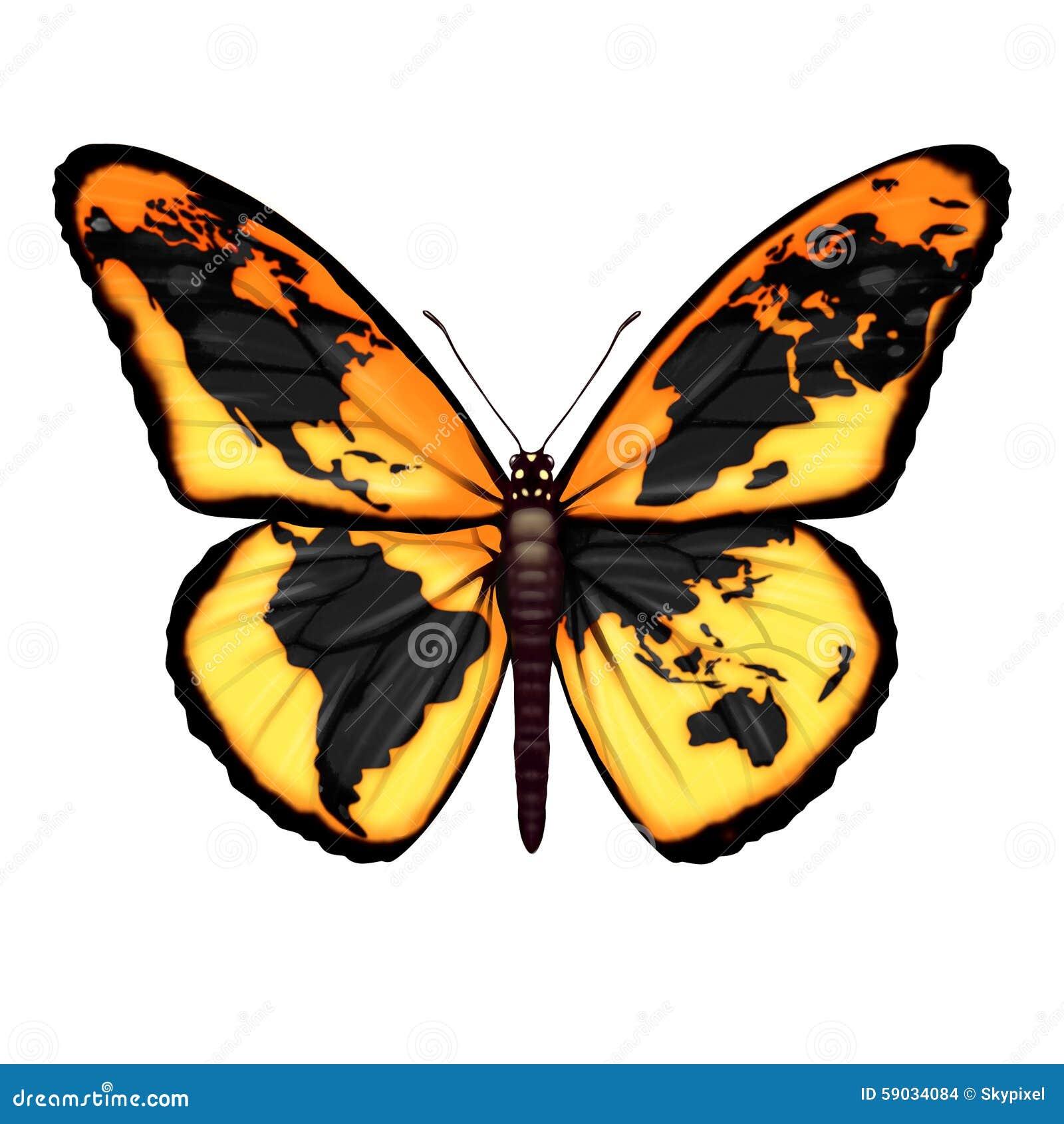 Global Butterfly Stock Illustration Illustration Of Fragility