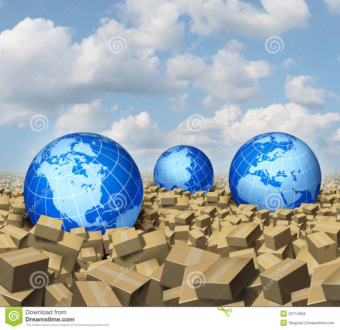 How does globalisation affect freight transport