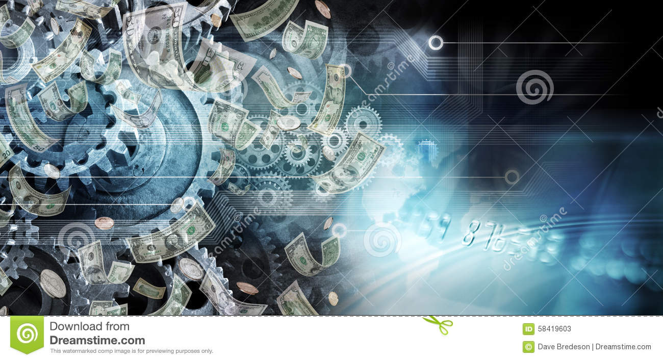 Global Cogs Money Business Background Stock Image Image