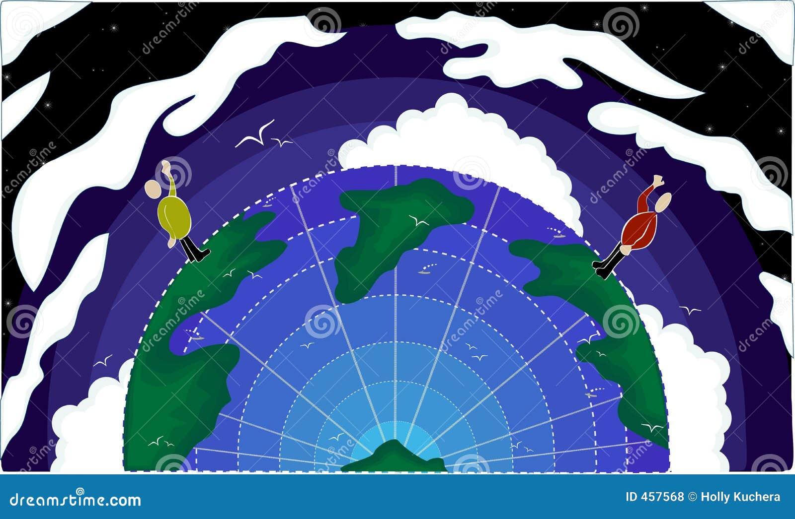Download Global Communication stock illustration. Illustration of clouds - 457568