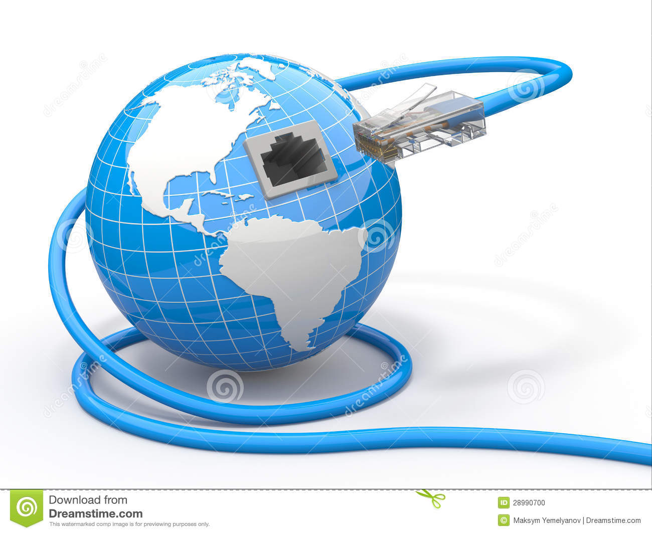 Global Communication Earth And Cable Rj45 Stock