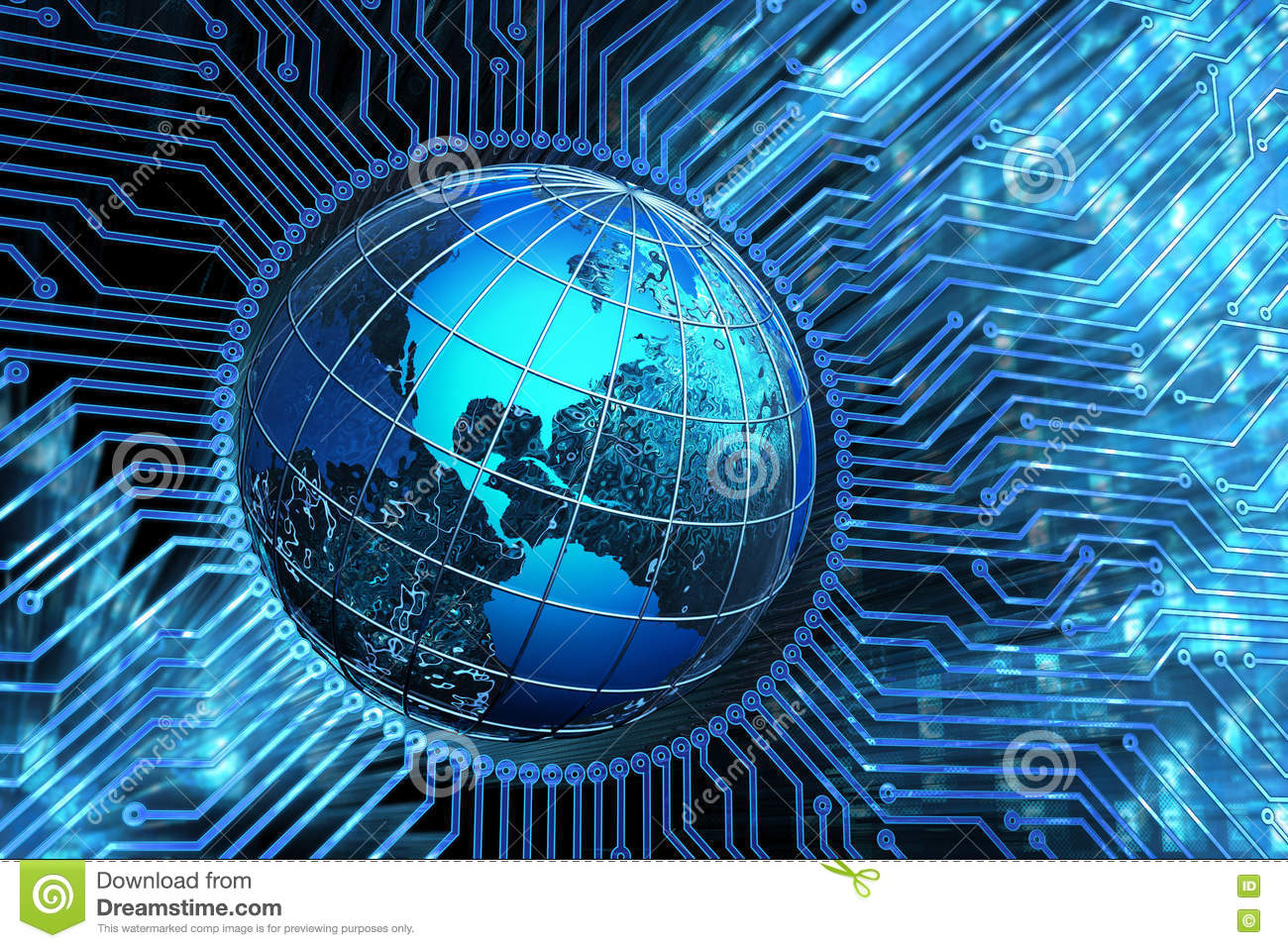 Global Communication Network  Microchip Connections