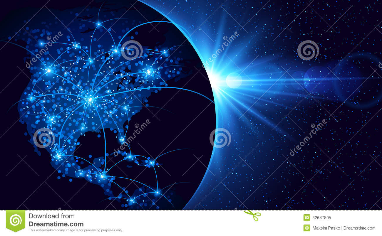 Royalty Free Stock Photo Global Communication Planet Earth Vector Illustration Image32687805 on Science Pictures To Print