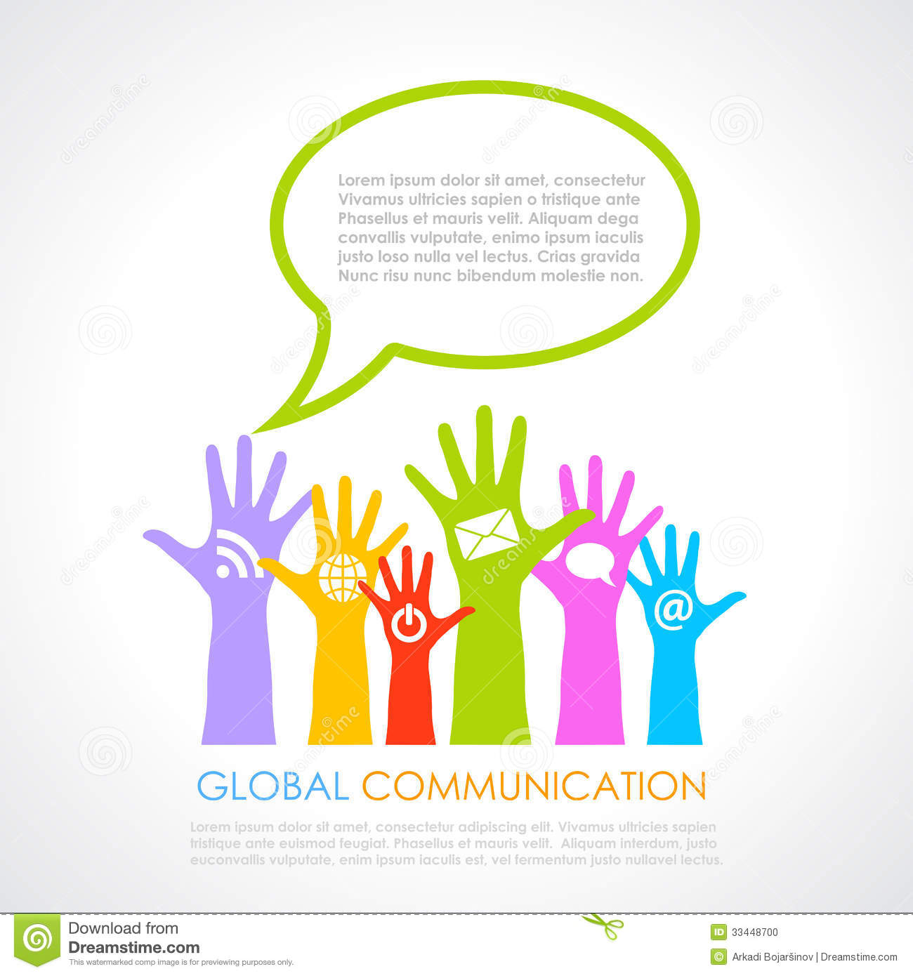 Global Communication Poster Stock Photo - Image: 33448700