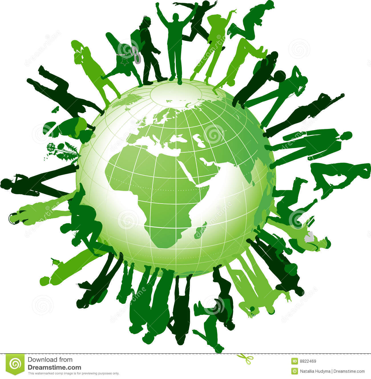 Global community. All elements and textures are individual objects ...