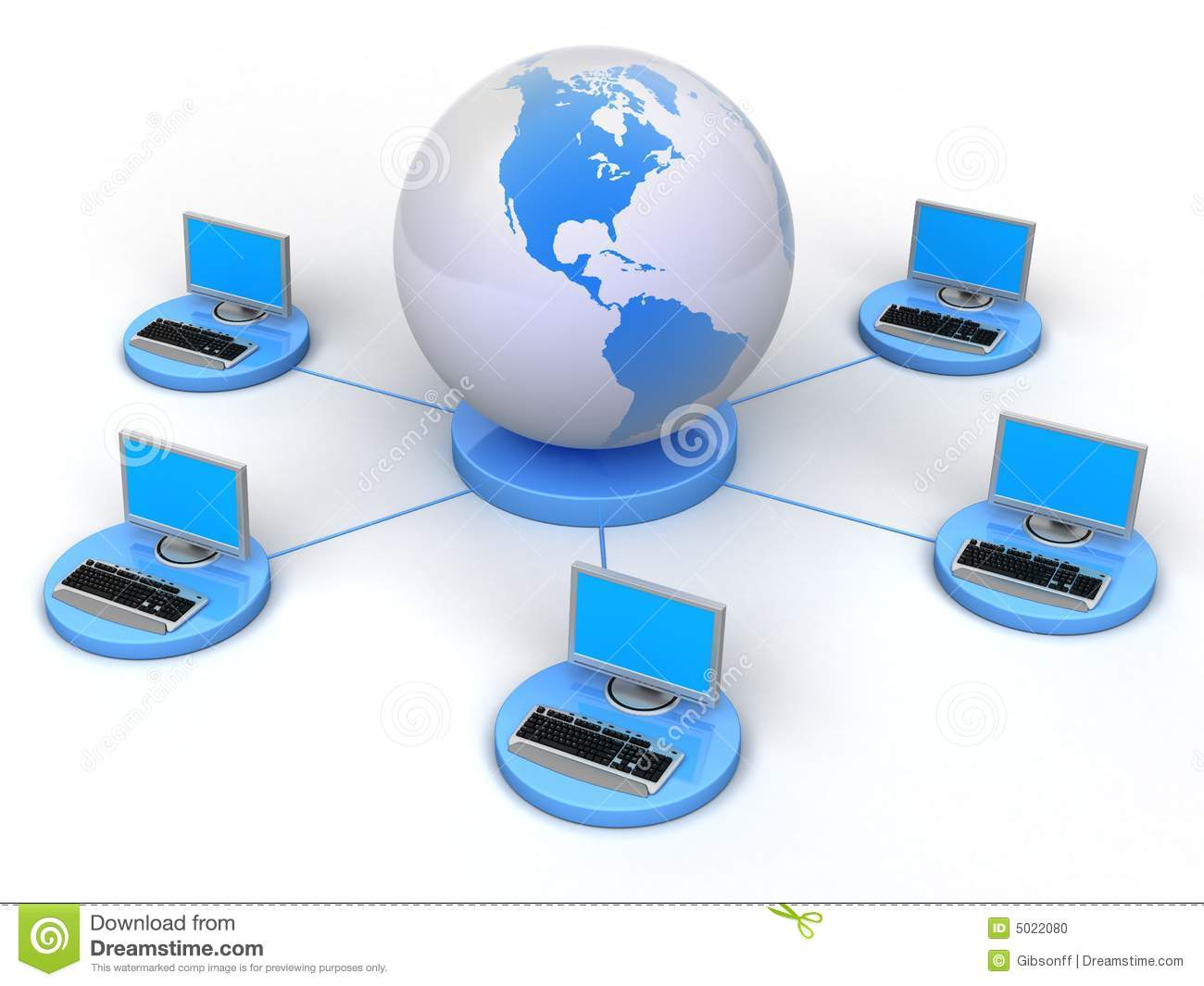 Global Computer Network Stock Photo  Image: 5022080