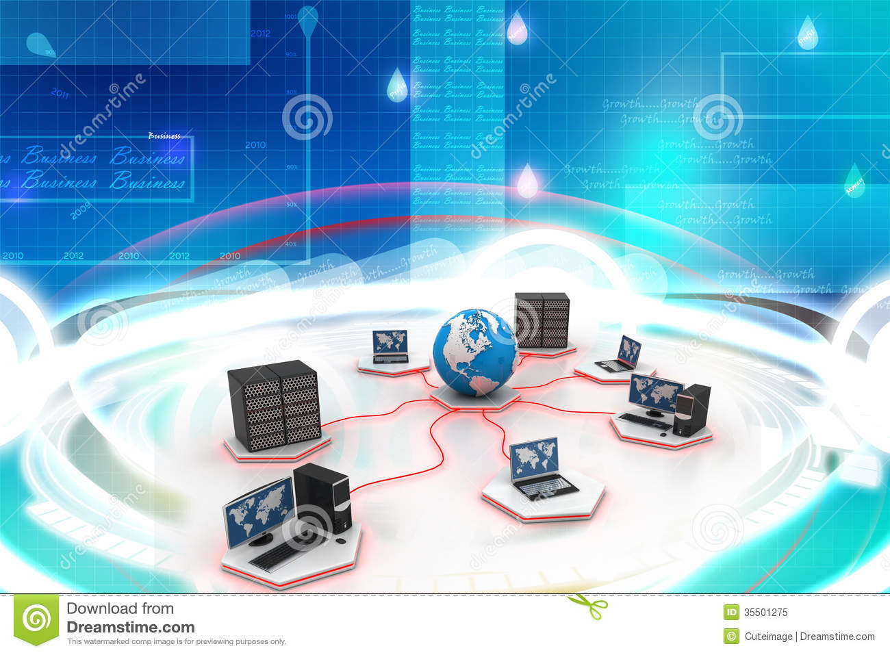 global computer networking stock illustration  image of