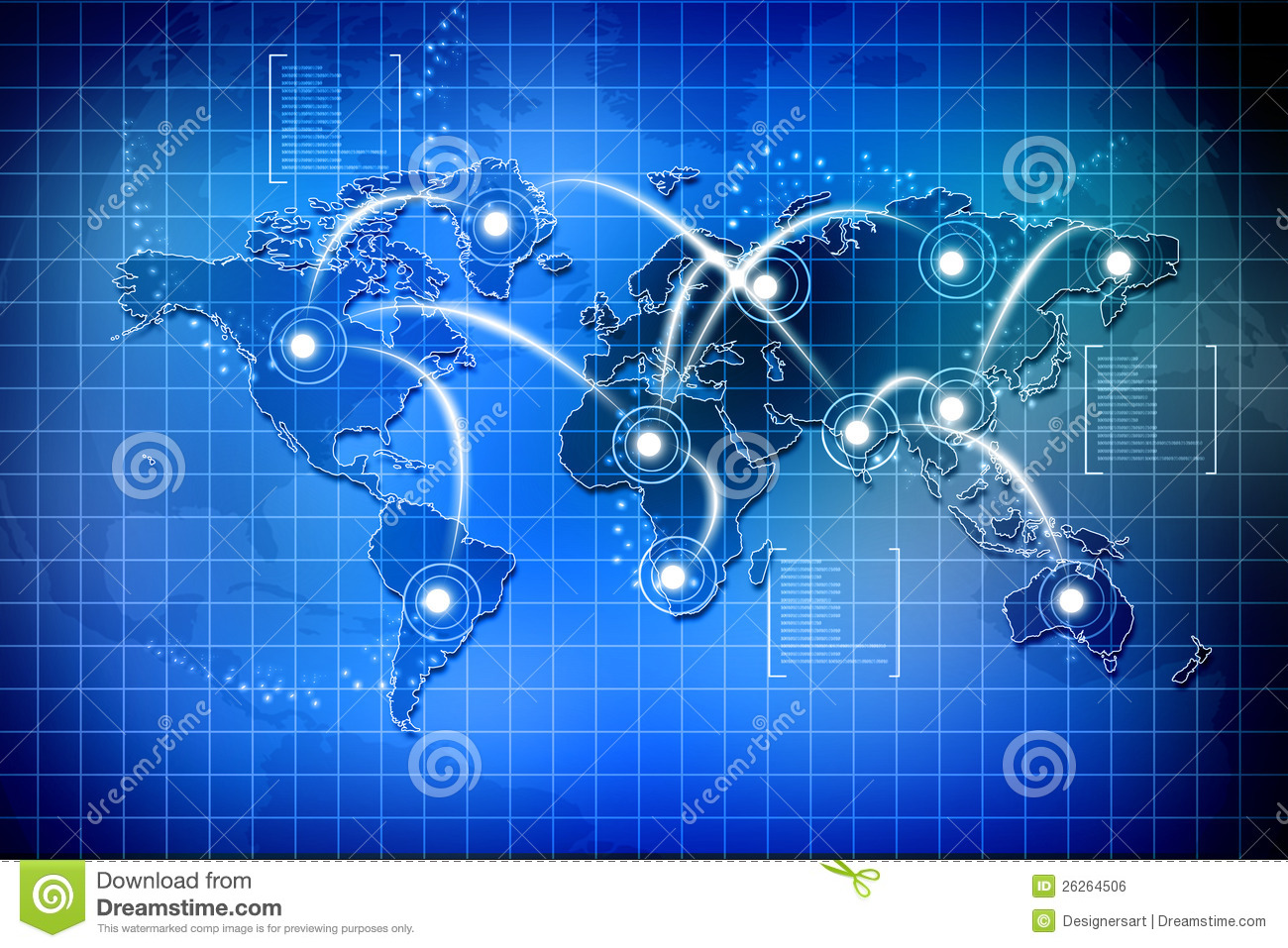 Global Connections Stock Illustration  Illustration Of