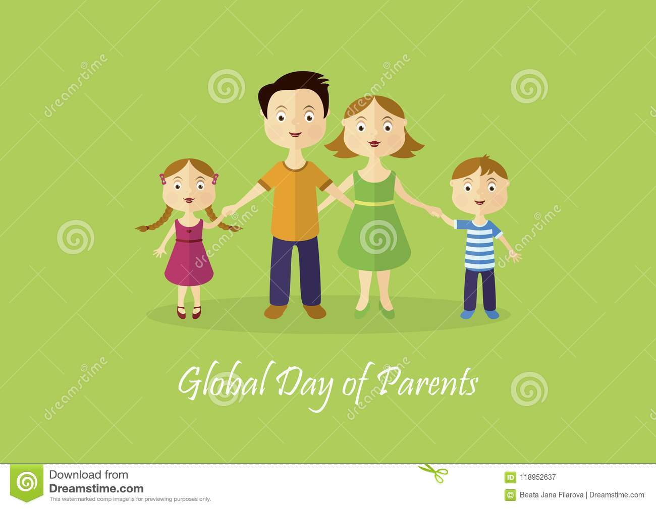 Global Day of Parents vector