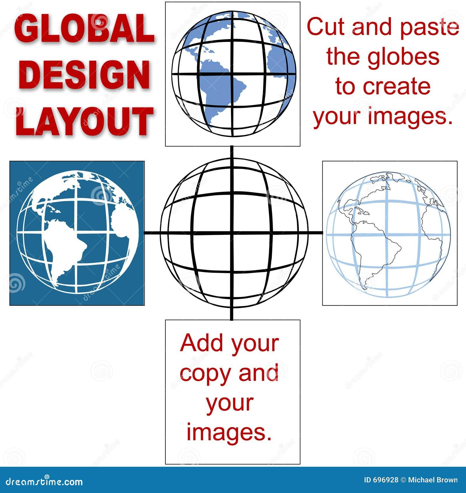 Global Design Layout Royalty Free Stock Photos - Image: 696928