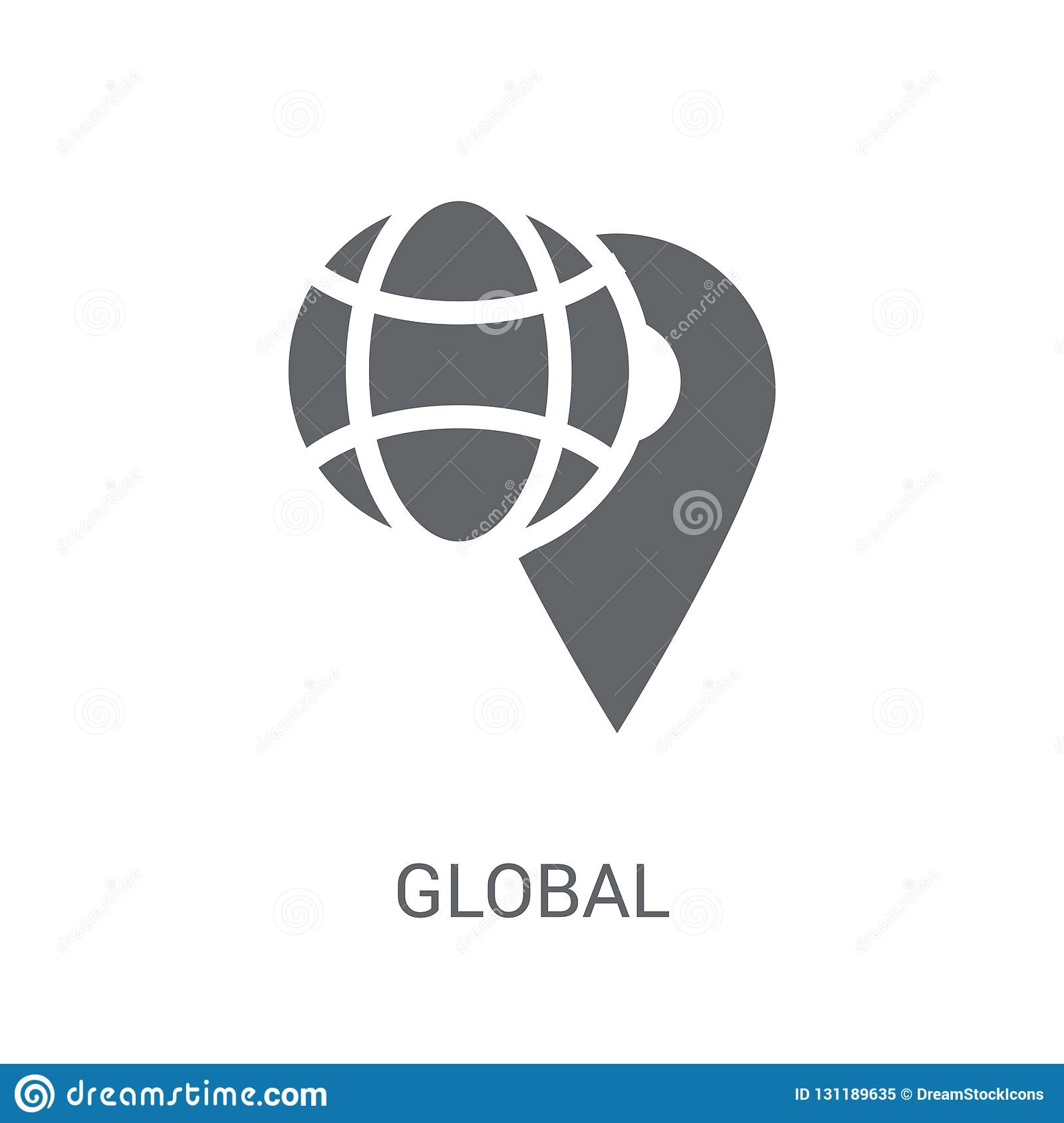 Global distribution icon. Trendy Global distribution logo concept on white background from Delivery and logistics collection