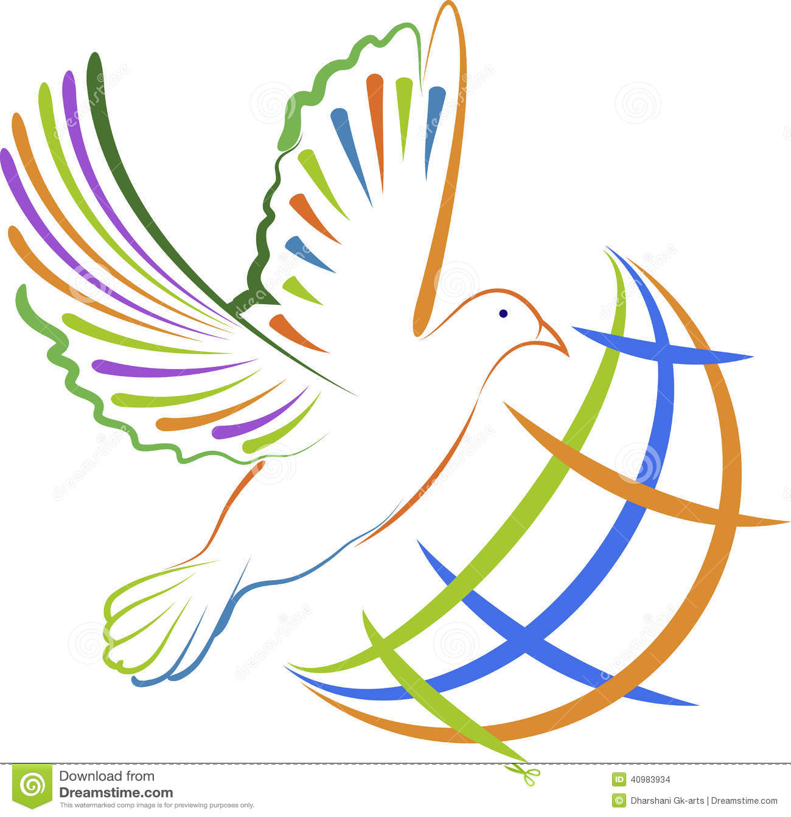 Global Dove Logo Stock Vector - Image: 40983934
