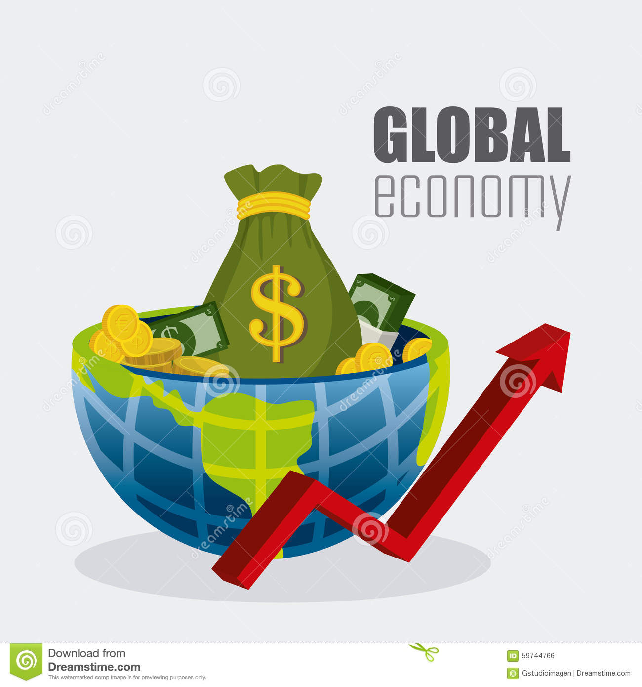 Global economy money and business stock vector image for Global design firm
