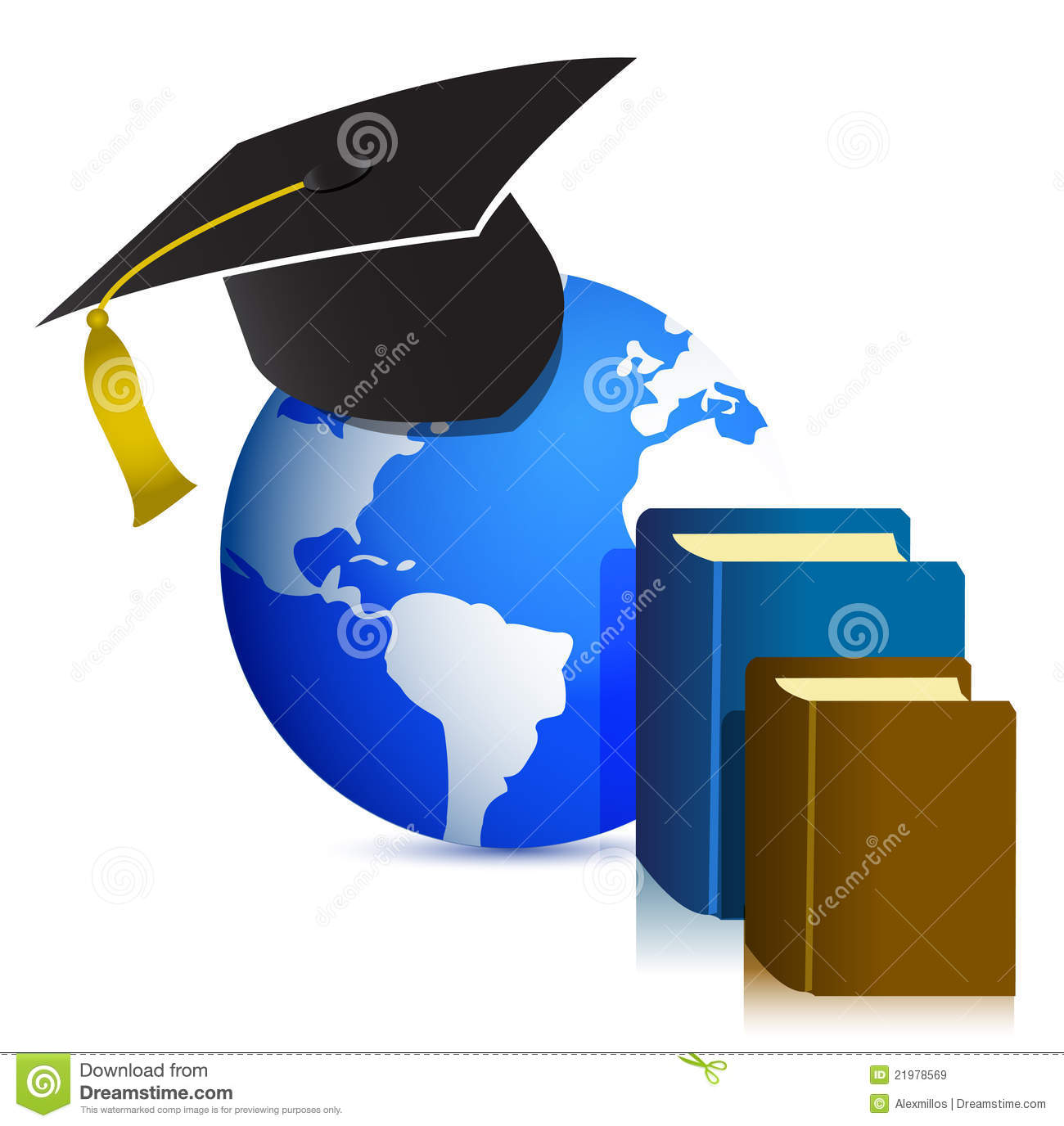 Global Education Concept Design Illustration Royalty Free Stock ...