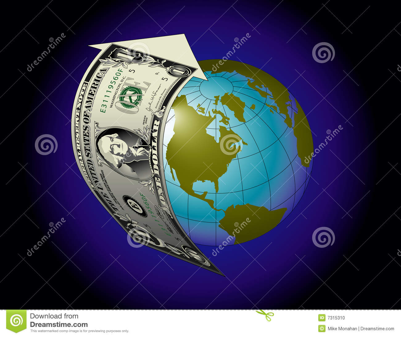 Finance Background: Global Financial Background Stock Photo