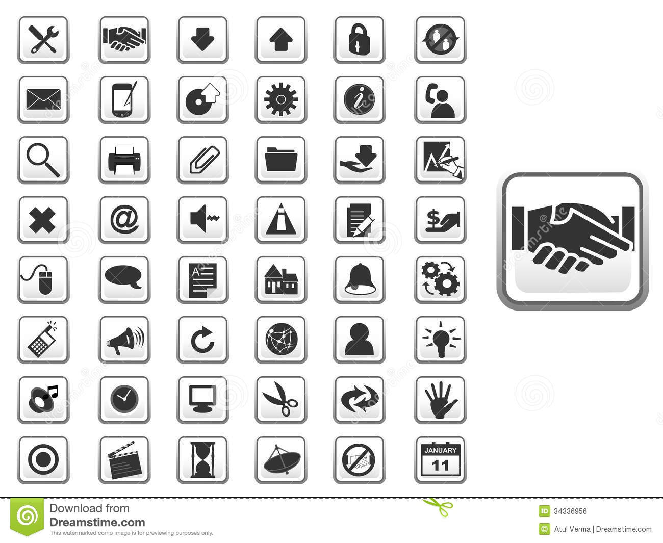 Gui Icon Set For Web And App Stock Vector Image 34336956