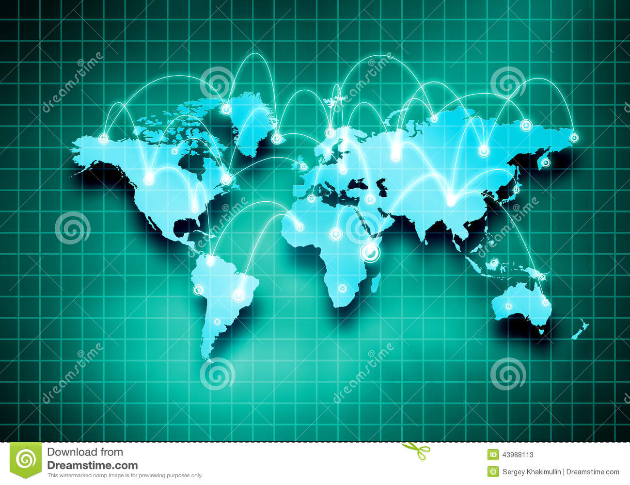 Global Interaction Stock Photo