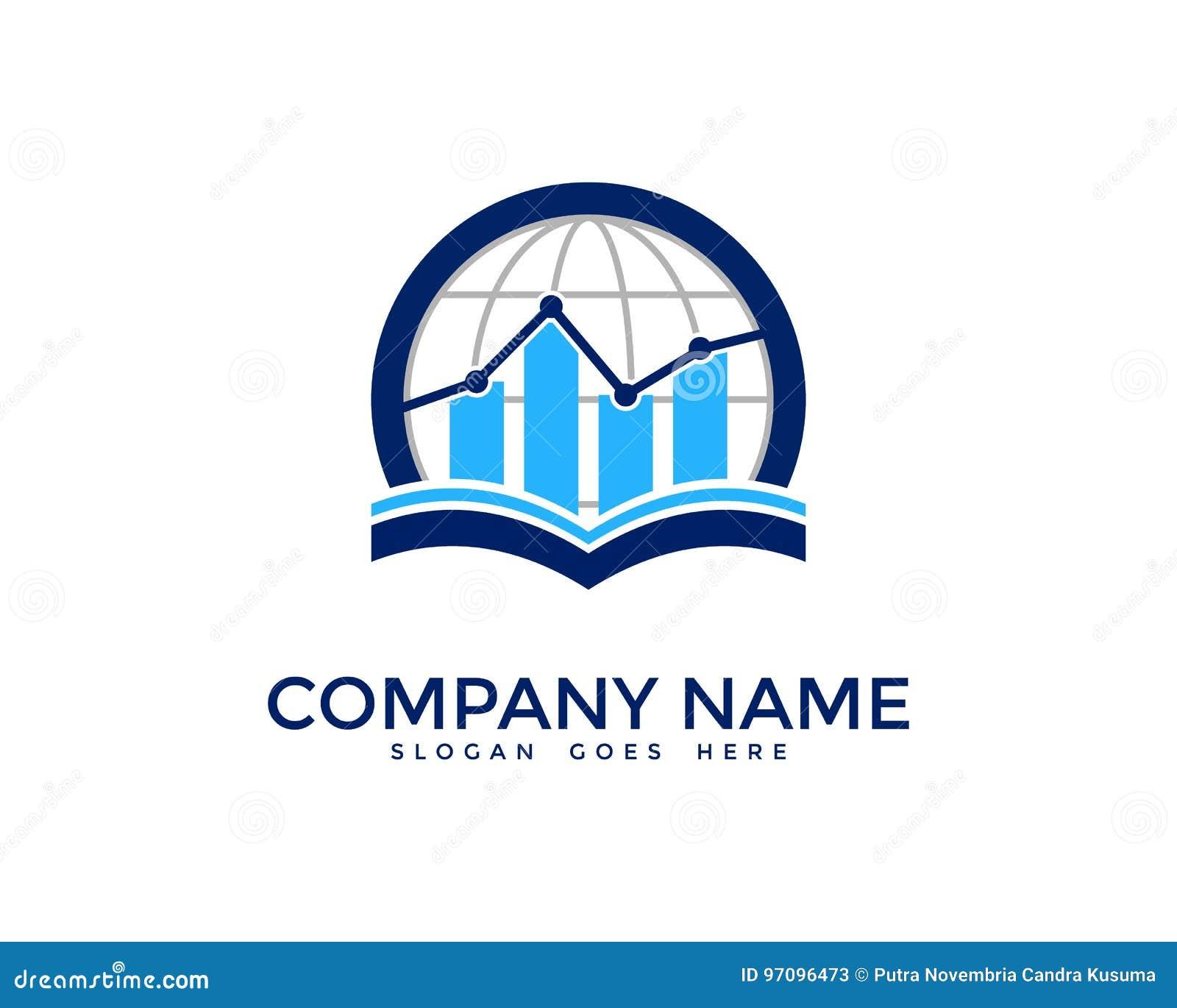 Global International Report Icon Logo Design Element Stock ...