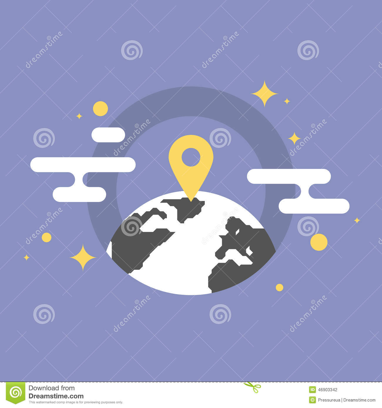 Global location flat icon illustration stock illustration image global location flat icon illustration gumiabroncs Gallery