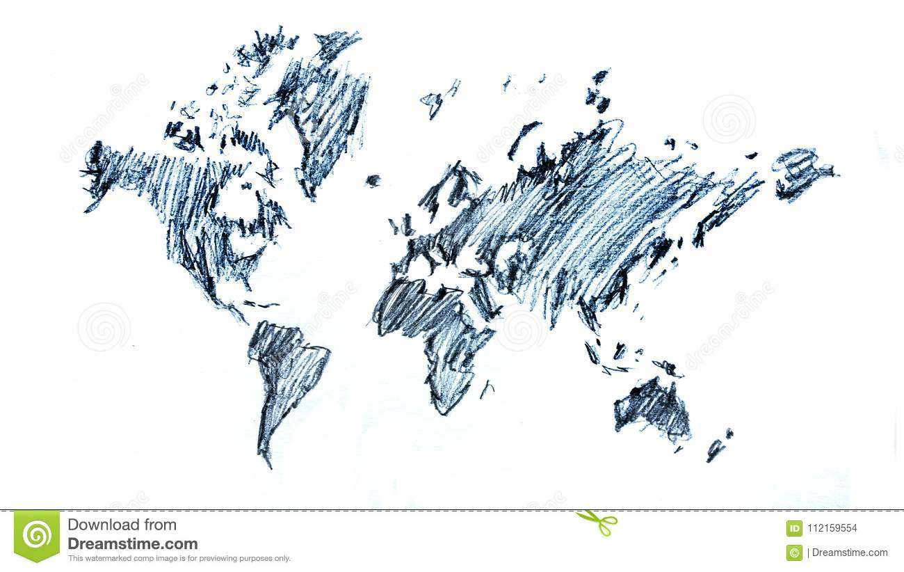 Global map sketch drawing illustration stock photo image of download comp gumiabroncs Image collections