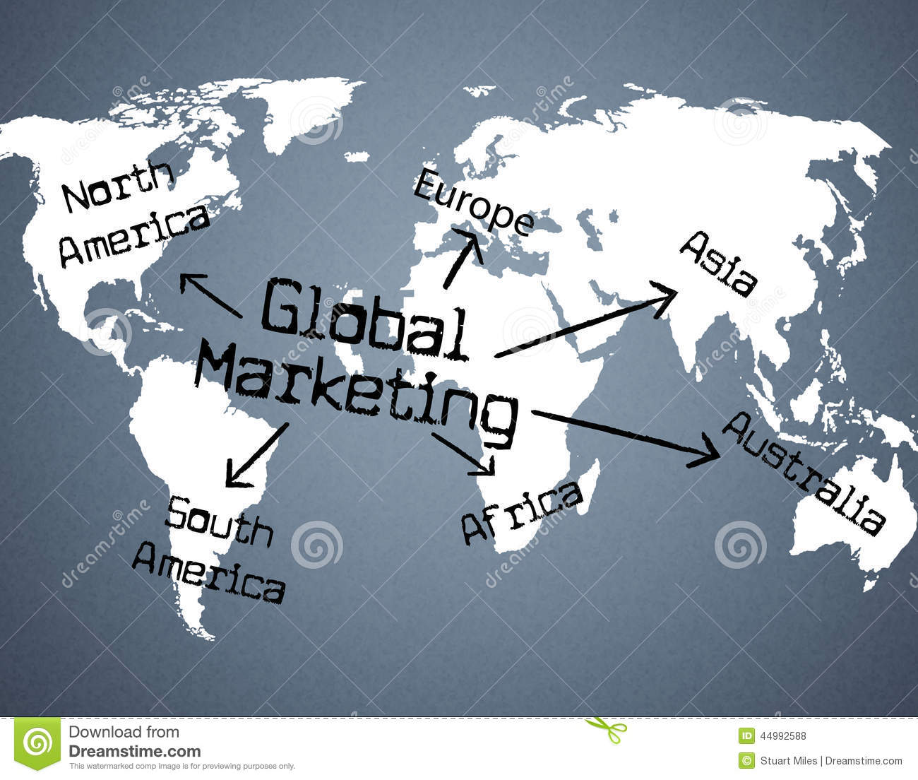 globalization and marketing Marketing globalization is a synergistic term combining the promotion and selling of goods and services with an increasingly interdependent and integrated global economy.