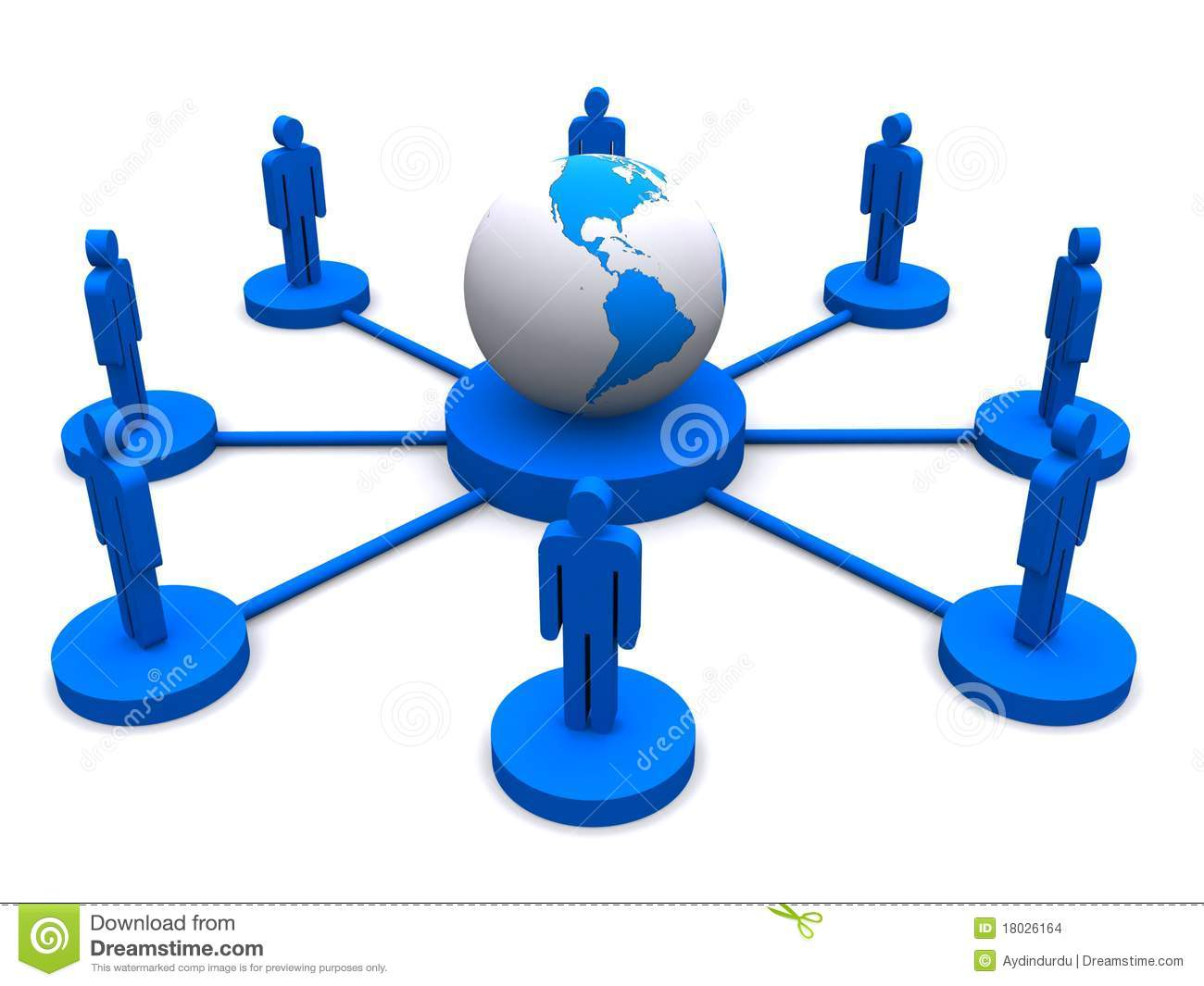 Global Network Connection Stock Images  Image: 18026164