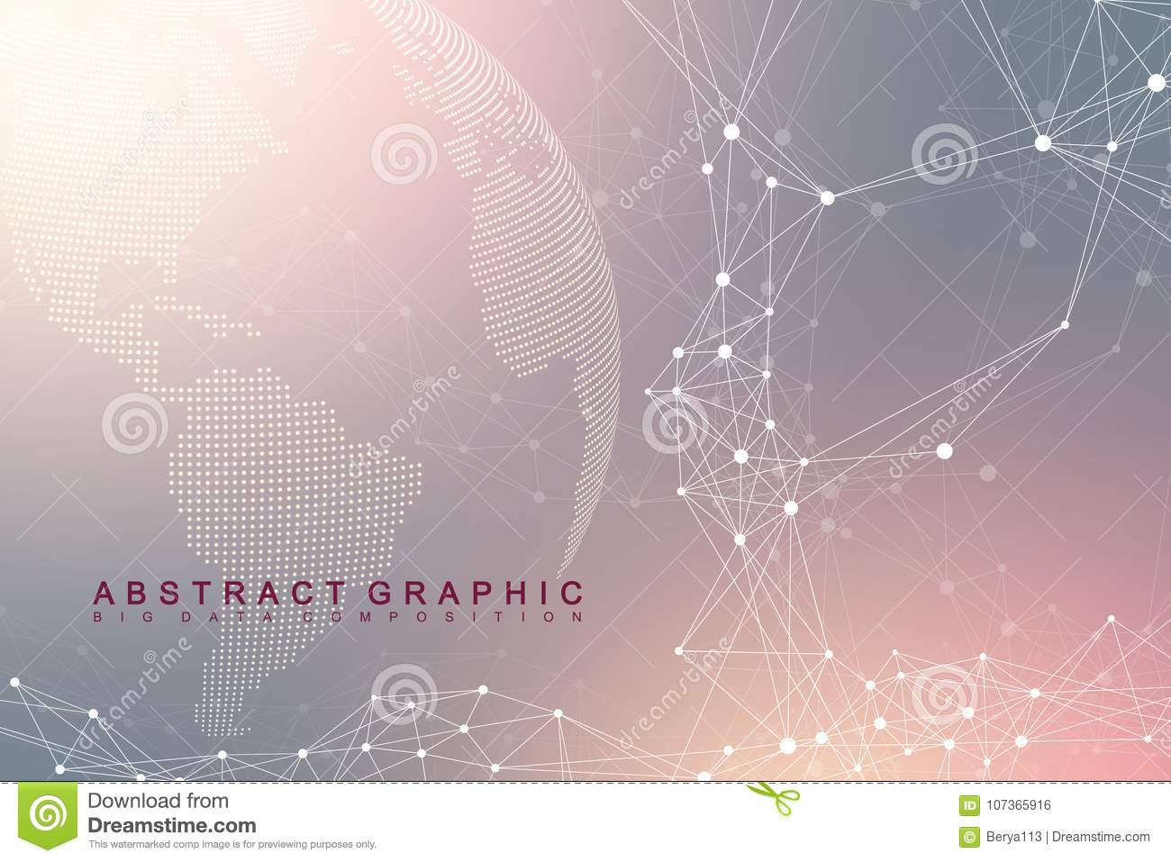 Global network connection. Network and big data exchange over planet earth in space. Global business. Vector