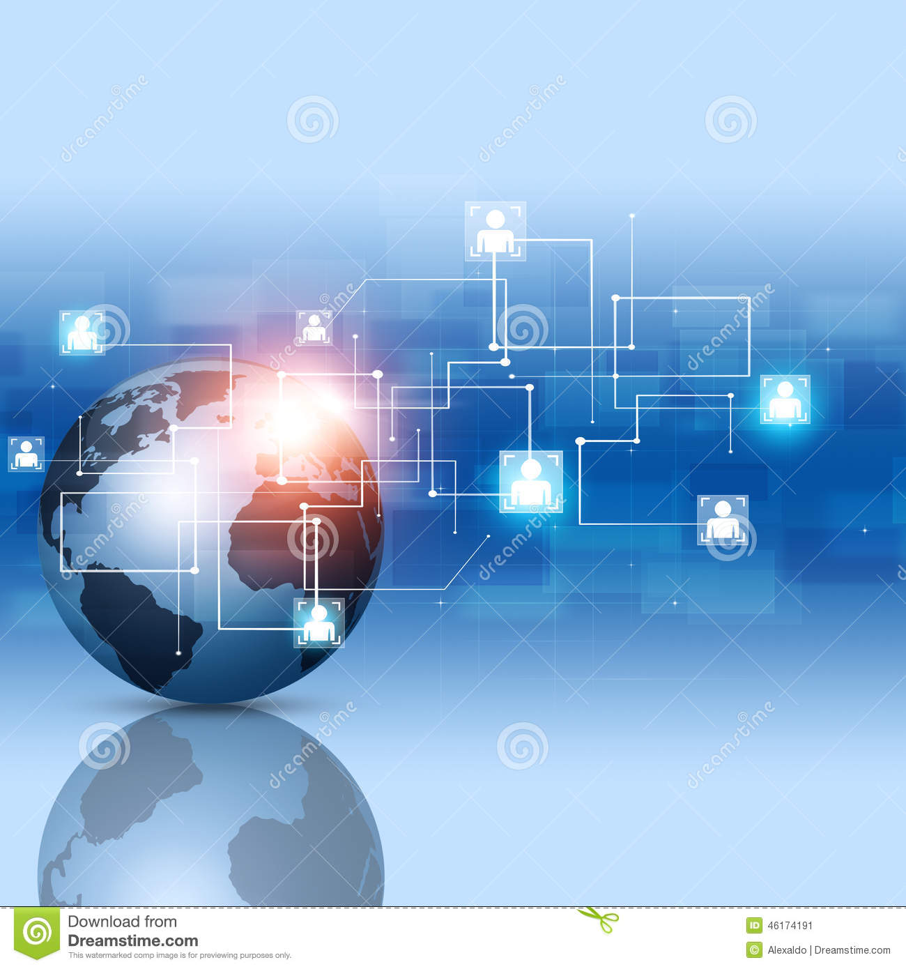 global network connections stock photo image 46174191