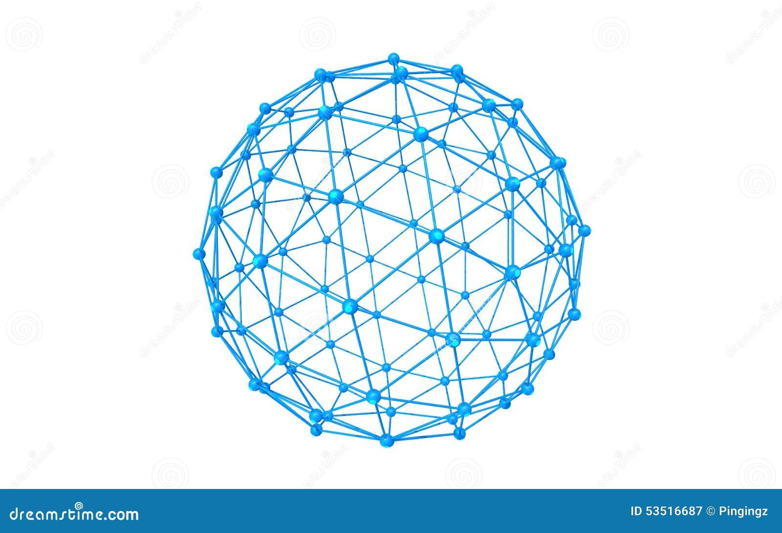 Global network icon blue illustration , white background.