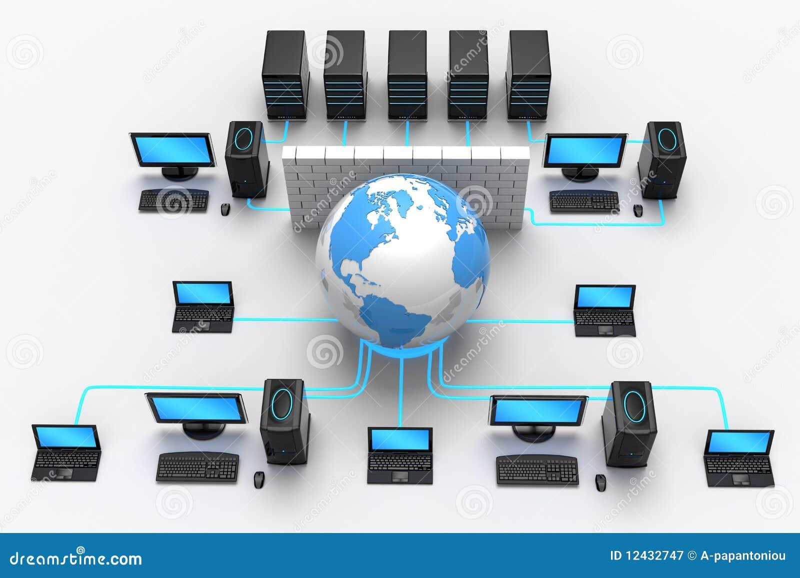 Global Network Protection Stock Illustration Illustration