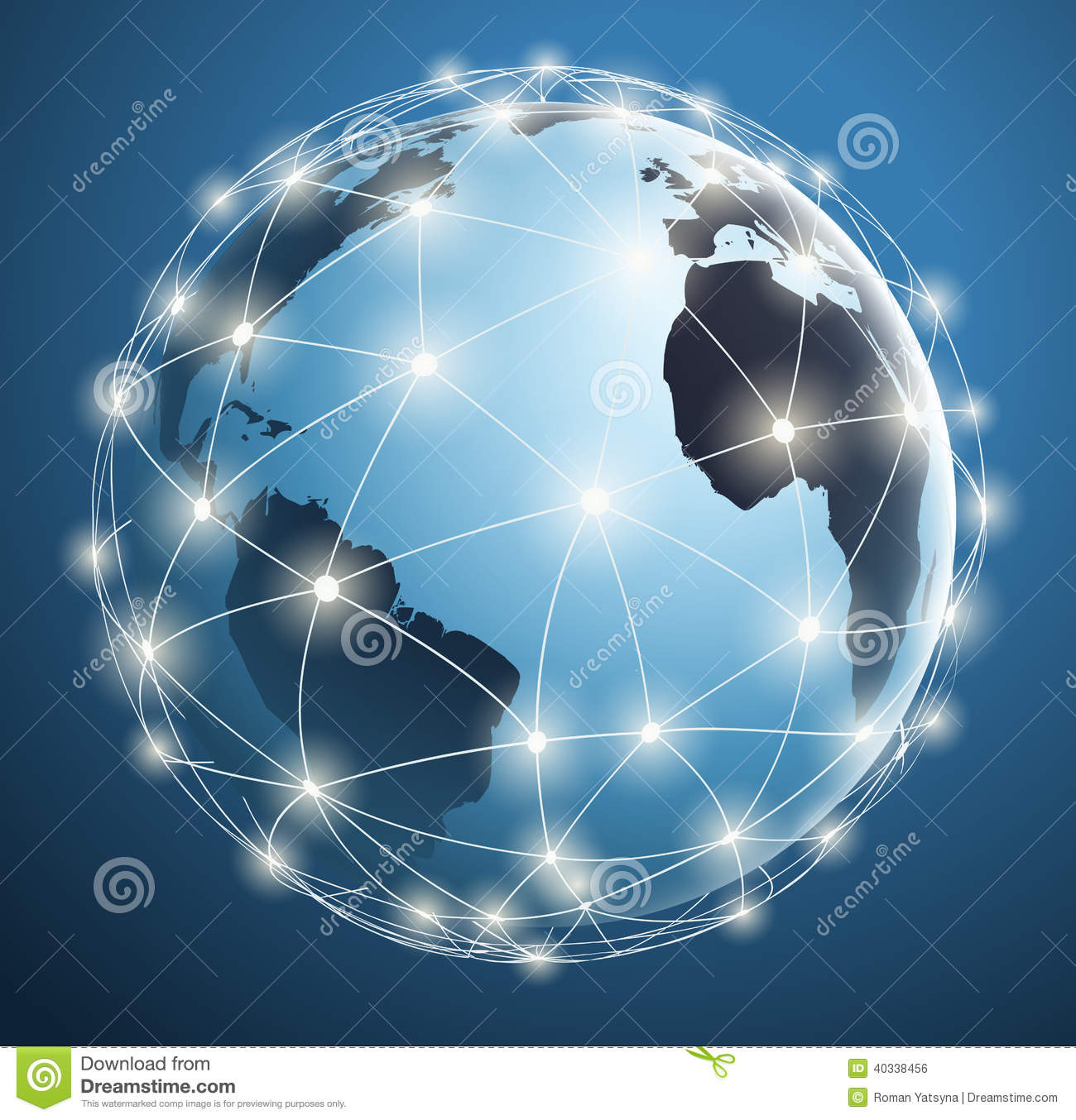 Royalty Free Stock Image Global  works Digital Connections Around World Map Illustration Image40338456 on wire connection symbol