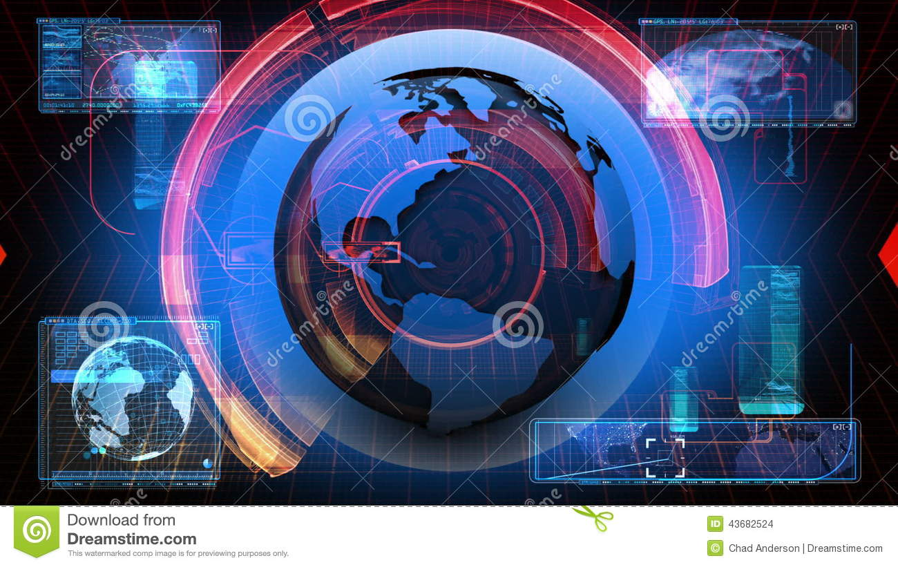 Global News Media Technology Graphic Animation Background Stock Footage