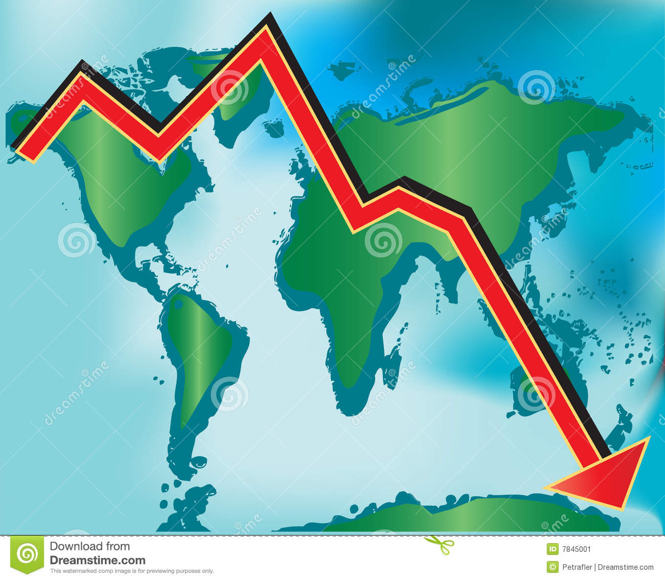 Global Recession stock vector. Illustration of debt, market - 7845001