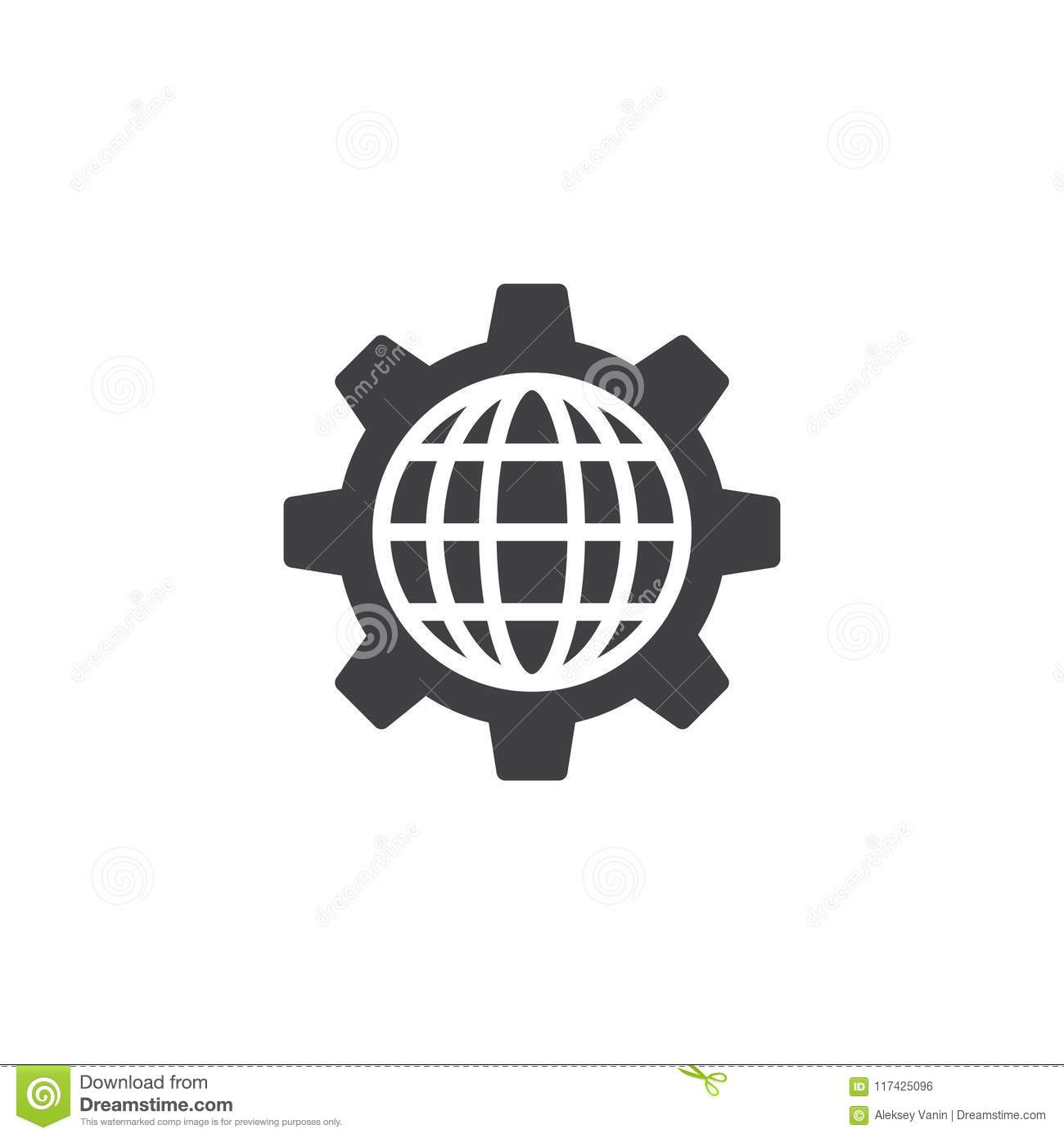Global setting vector icon stock vector  Illustration of