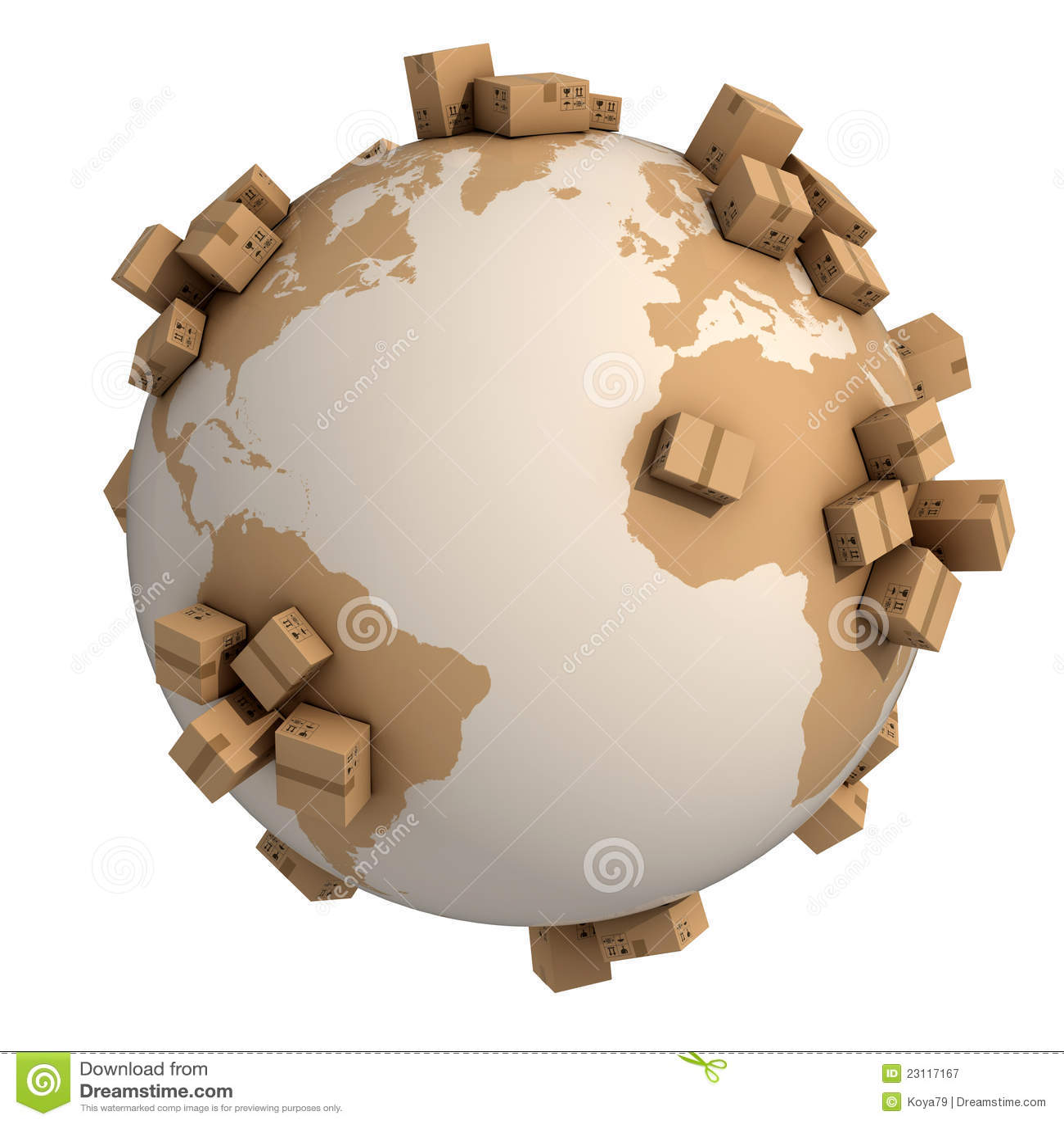 Global shipment 3d concept