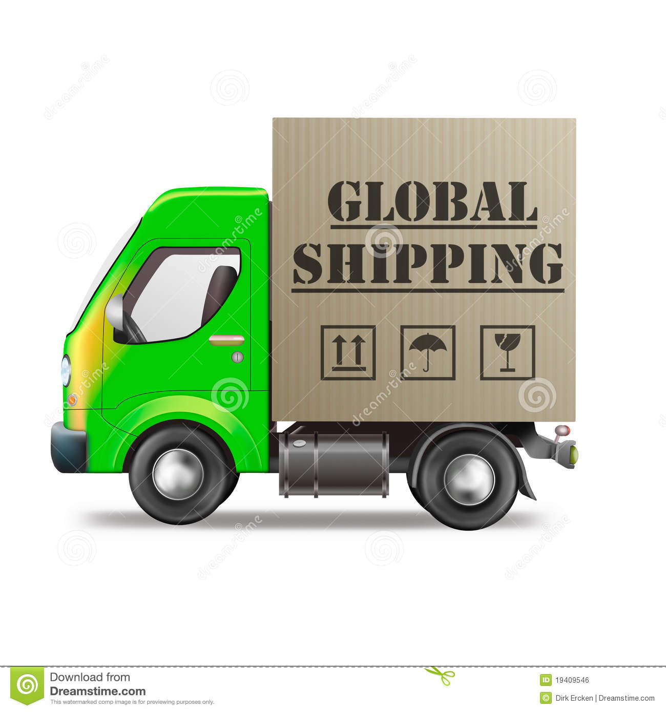 Global shipping package international trade