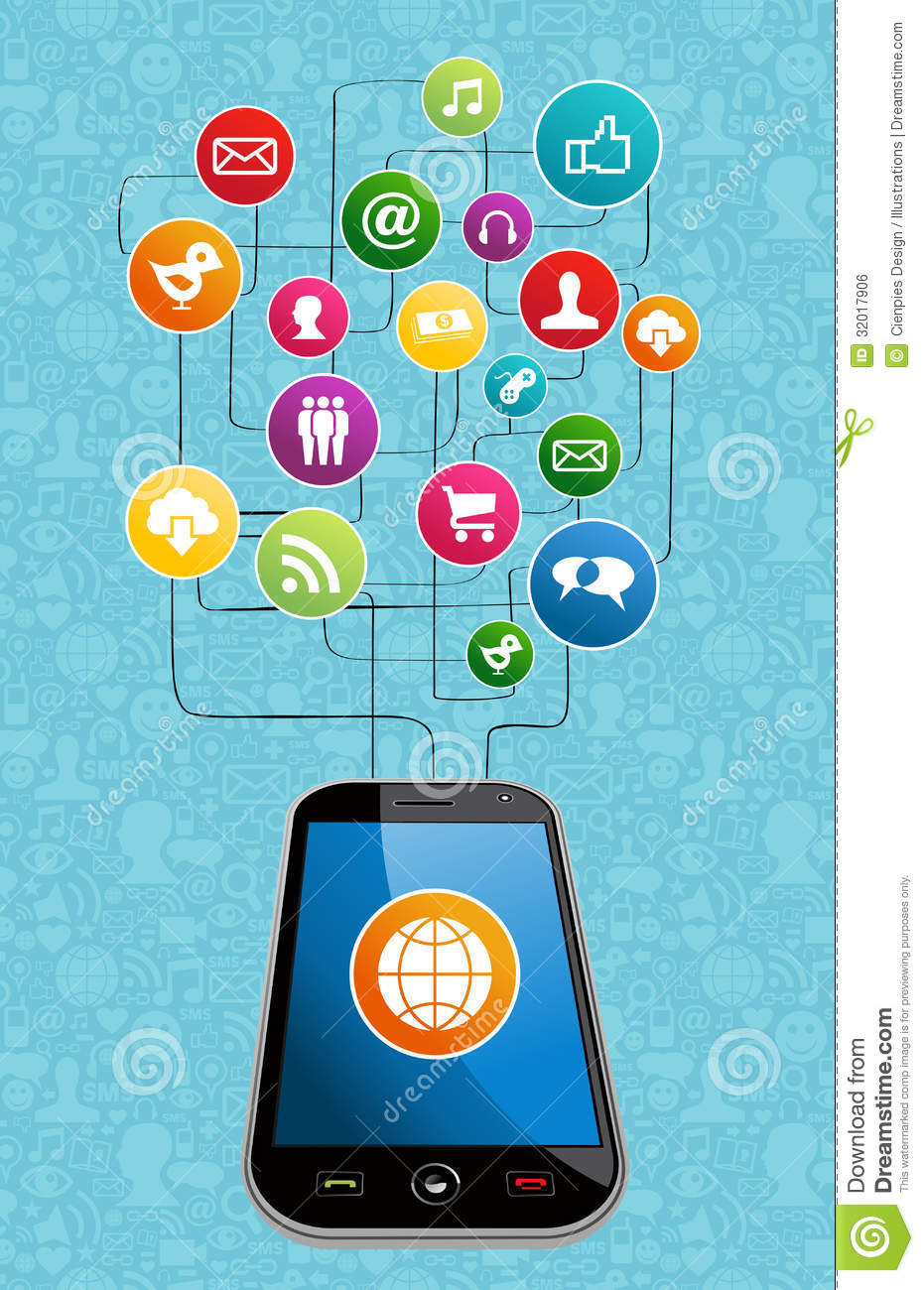 cell diagram clipart global social media mobility royalty free stock image #12
