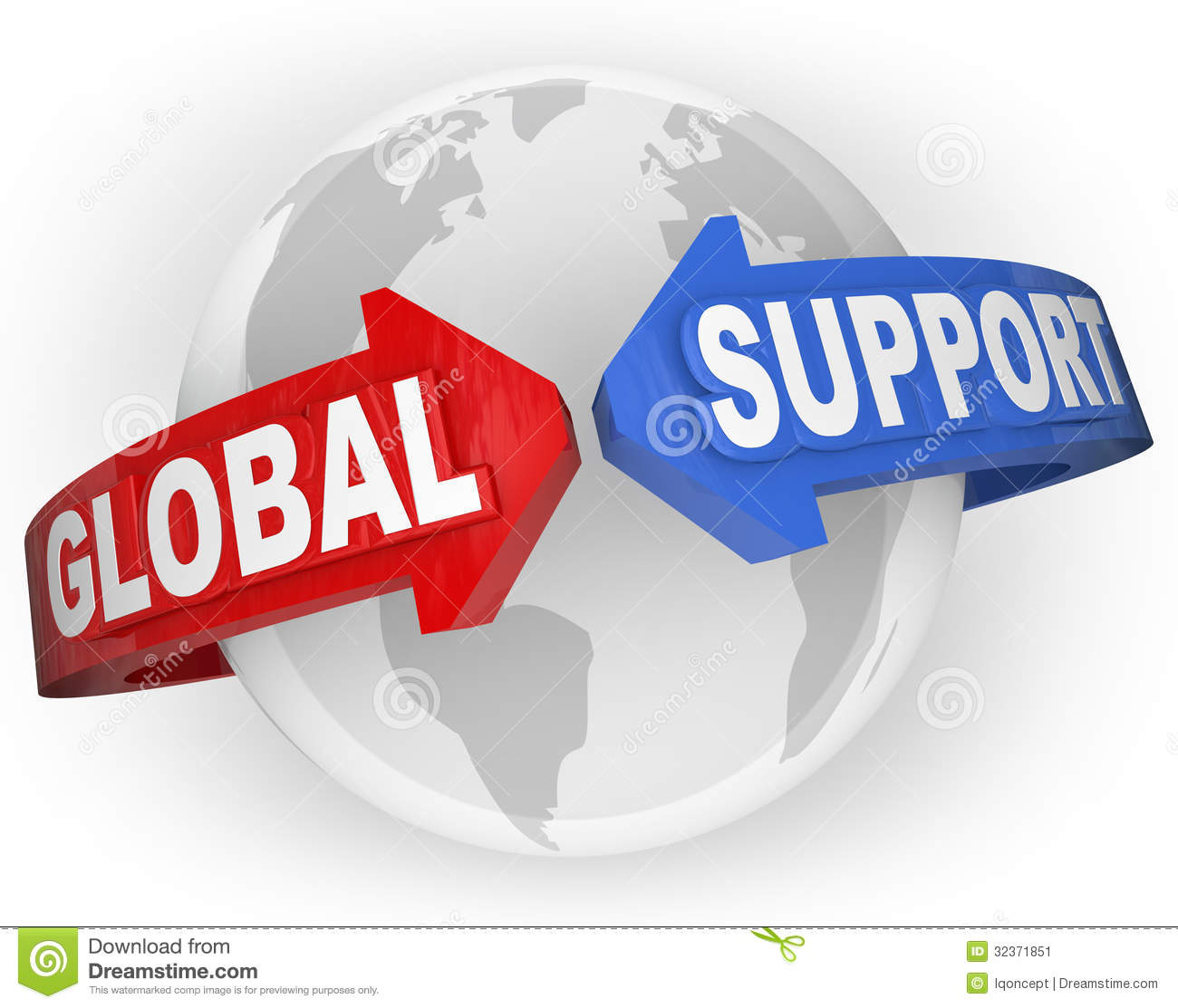 Global Support Arrows Around World International Aid Stock