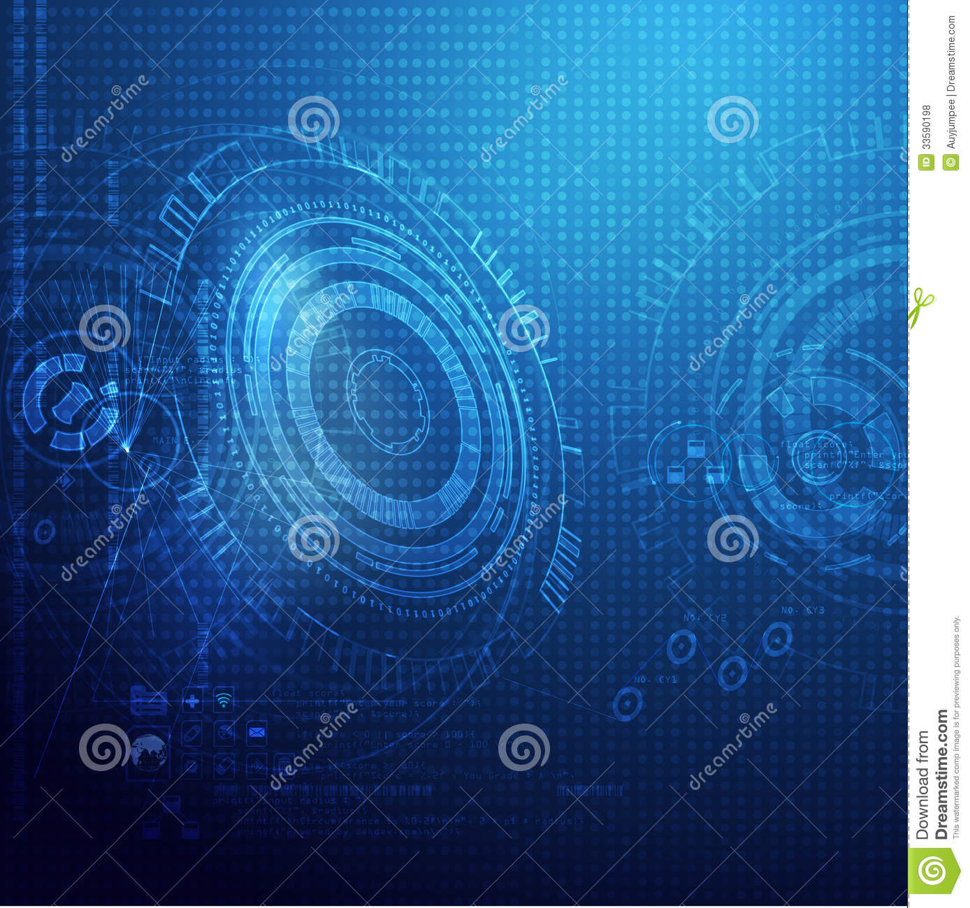 Technology Management Image: Global Technology Digital Background Royalty Free Stock