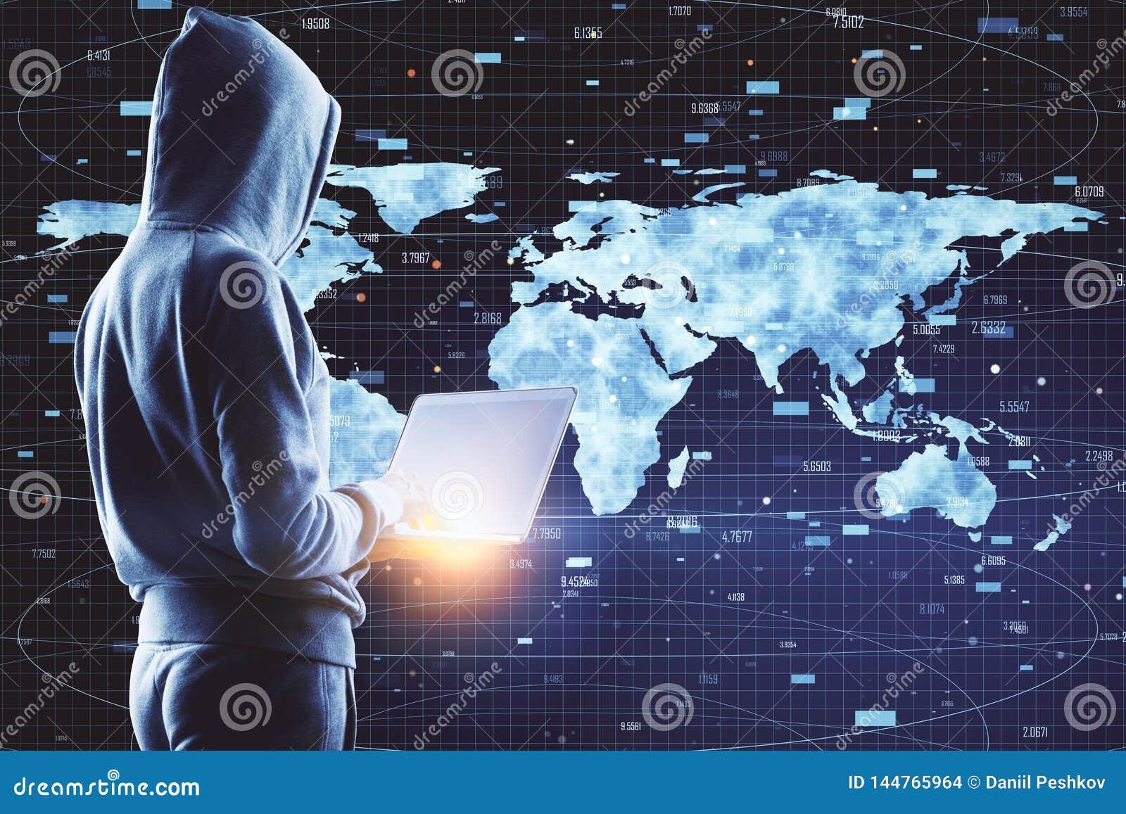Global trade and phishing concept