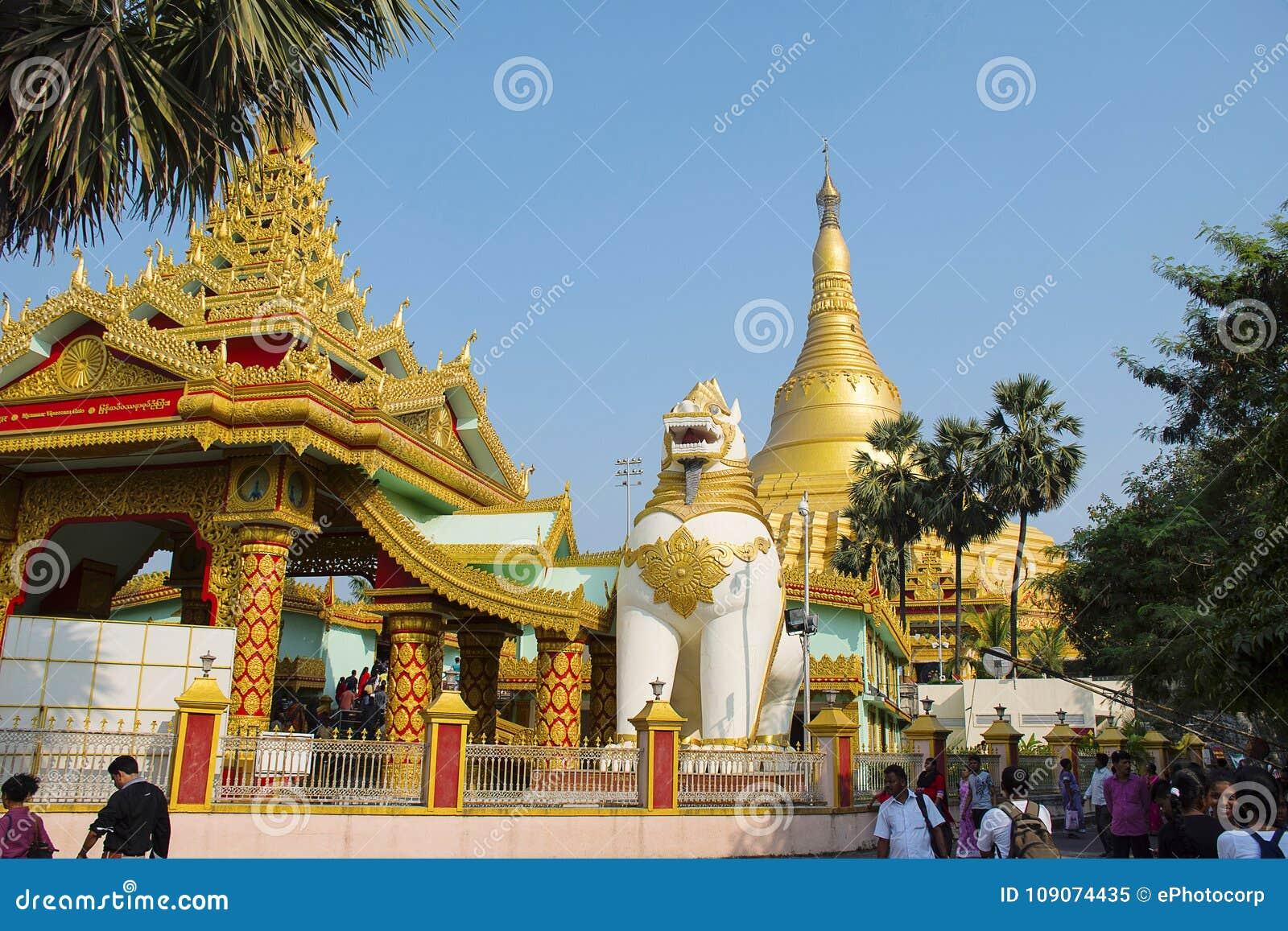 The Global Vipassana Pagoda. Meditation Hall near Gorai, North-west of Mumbai
