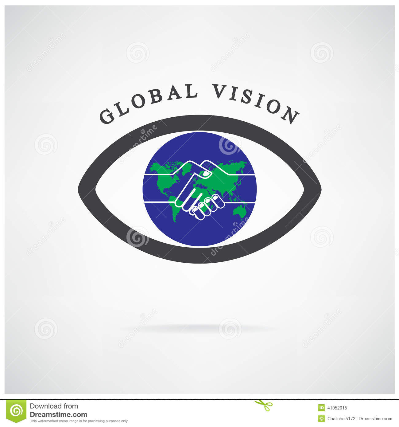 Global vision sign,eye icon,search symbol,business concept.