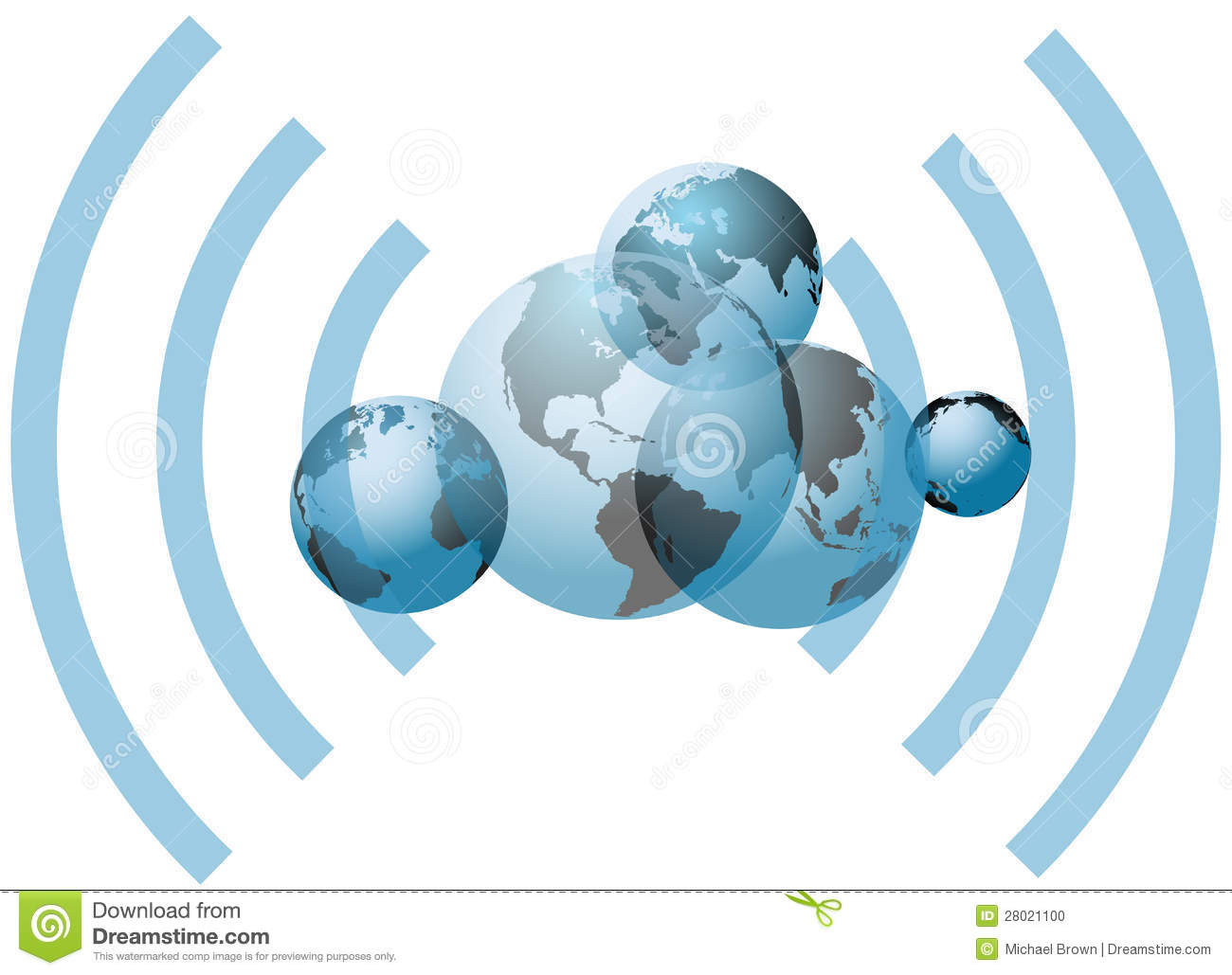 Global Wifi Network Connection Worlds Stock Vector Image